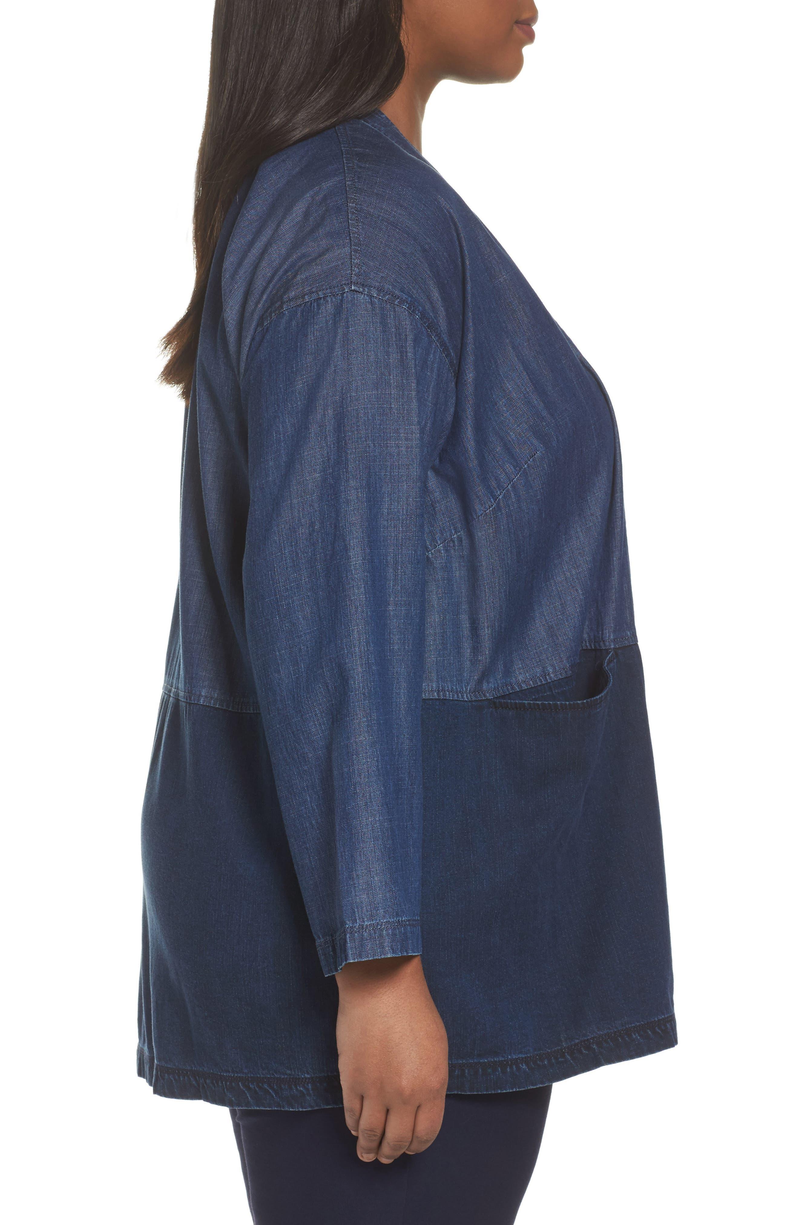 Denim Kimono Jacket,                             Alternate thumbnail 3, color,