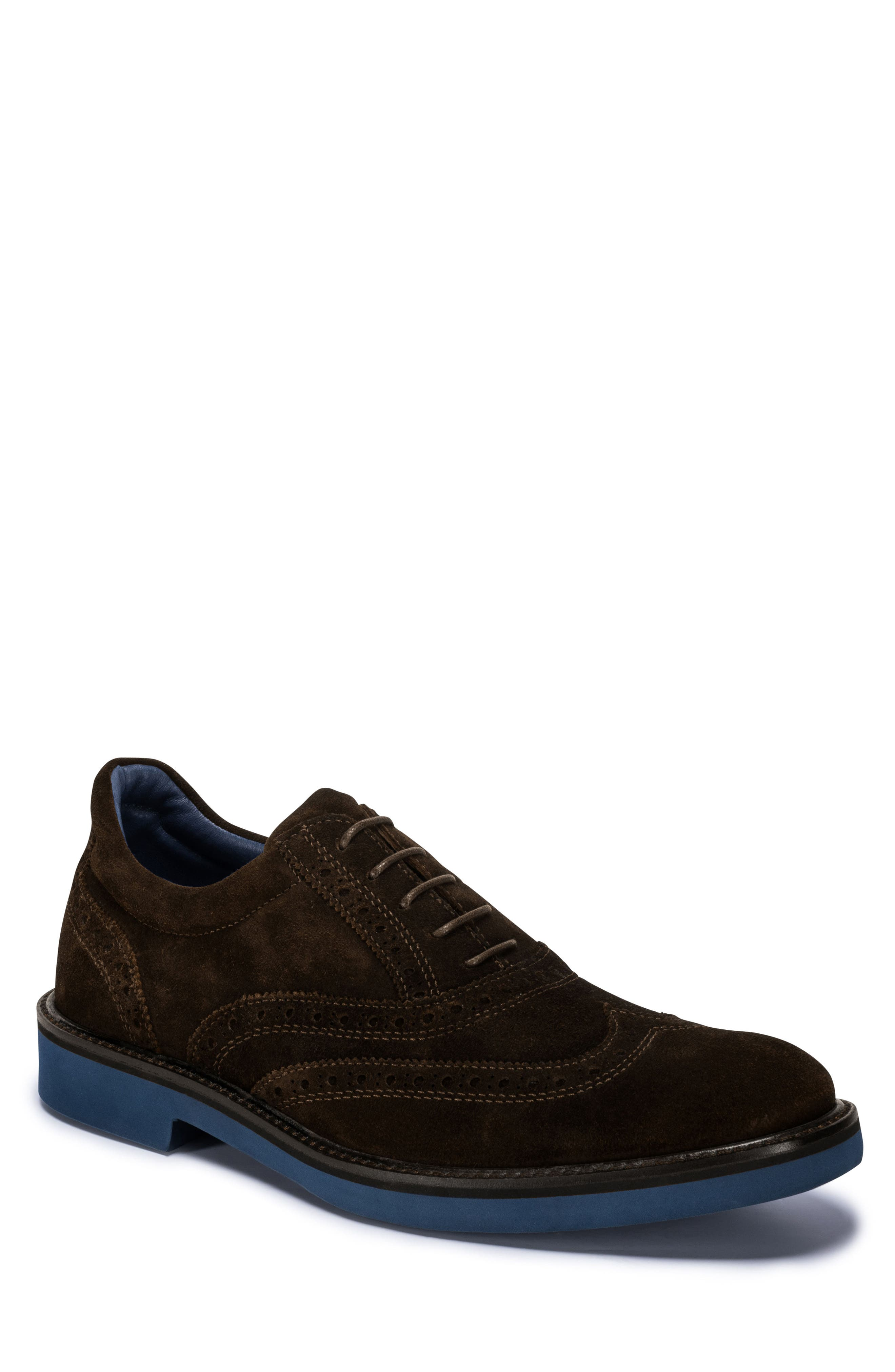 Sorento Wingtip,                             Main thumbnail 1, color,                             BROWN LEATHER