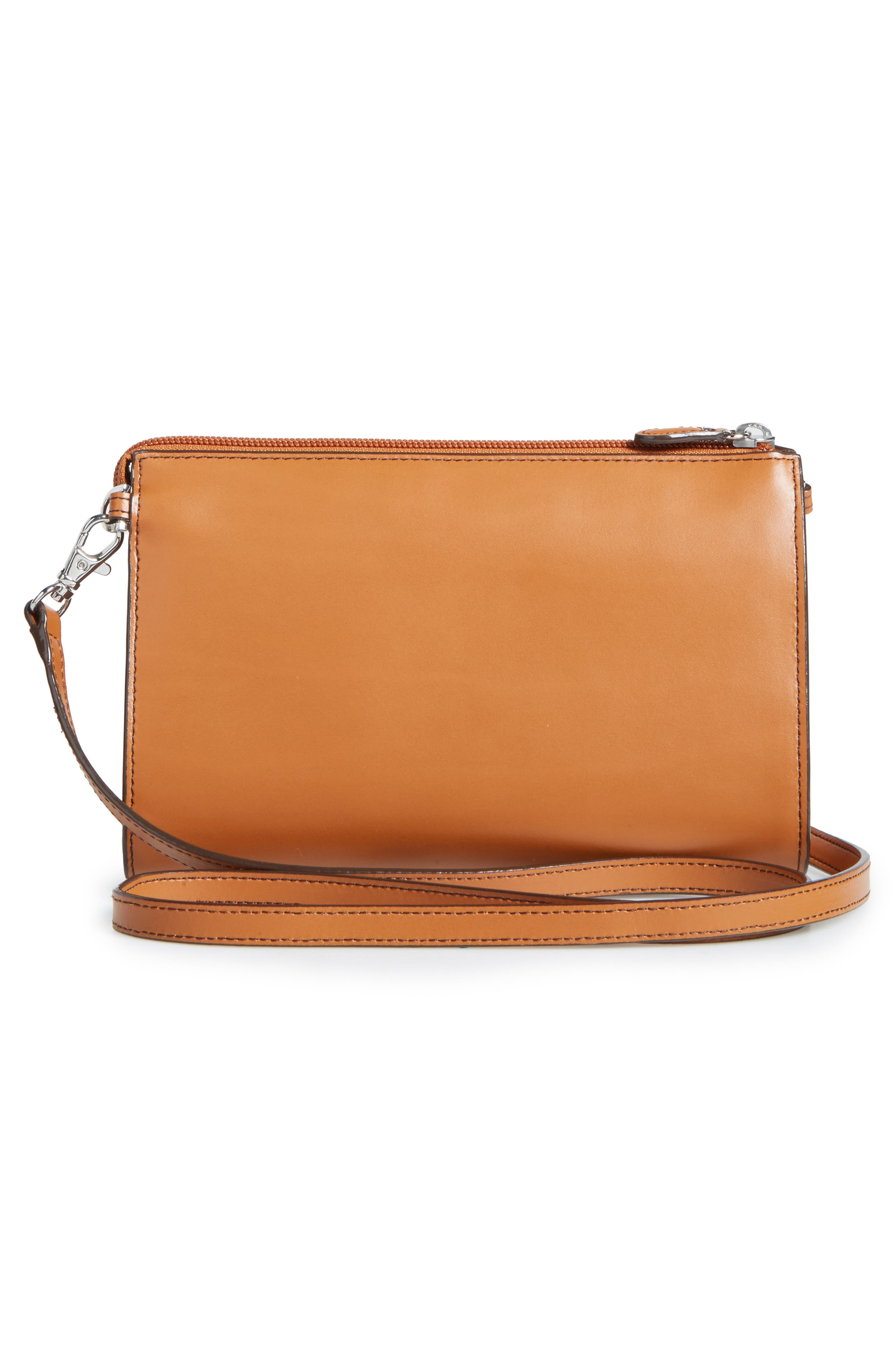 Audrey Under Lock & Key Vicky Convertible Leather Crossbody Bag,                             Alternate thumbnail 3, color,                             TOFFEE