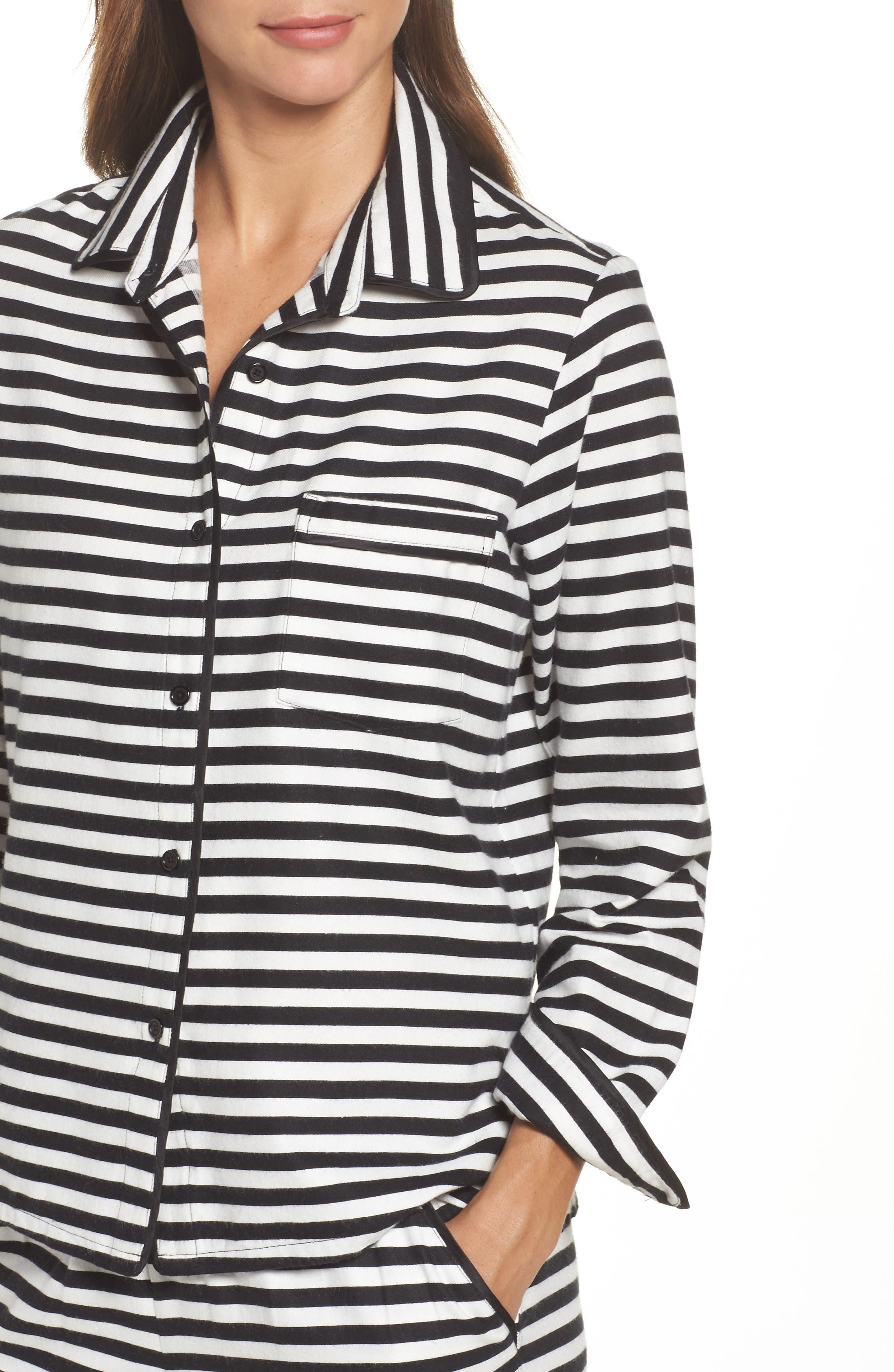 flannel pajamas,                             Alternate thumbnail 4, color,                             008
