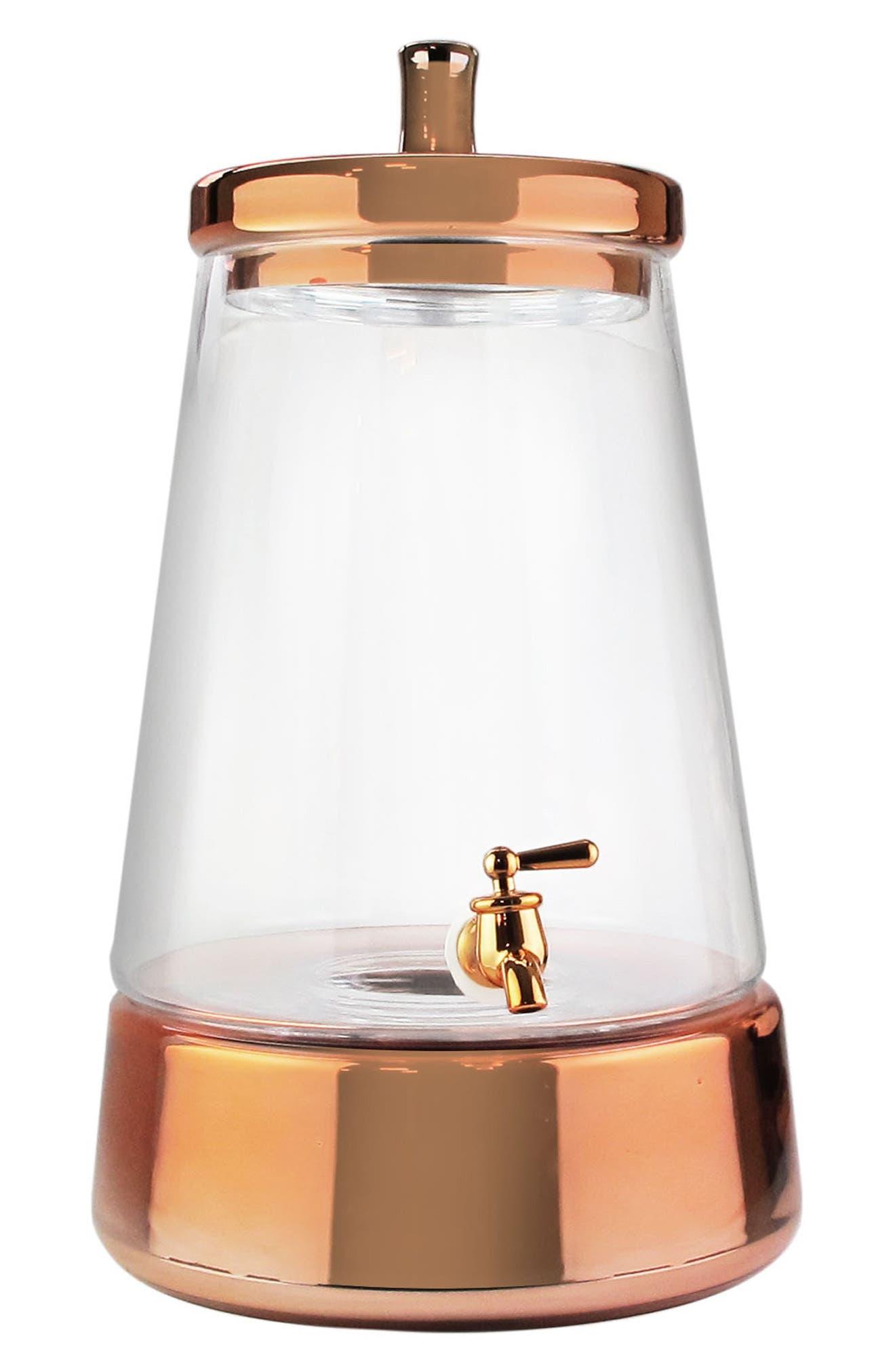 Metallic Beverage Dispenser,                             Main thumbnail 1, color,                             COPPER