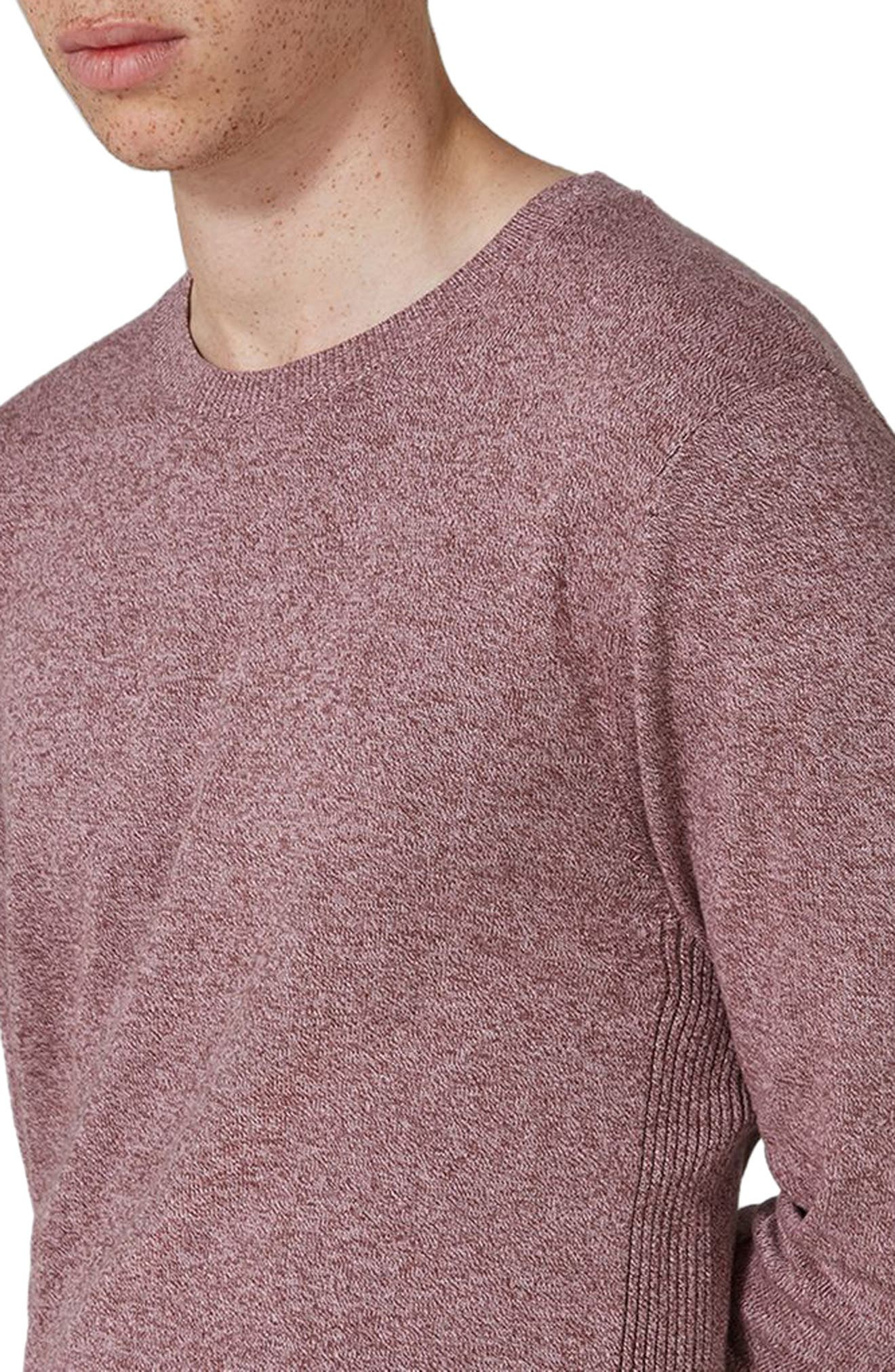 Side Ribbed Slim Fit Sweater,                             Alternate thumbnail 22, color,