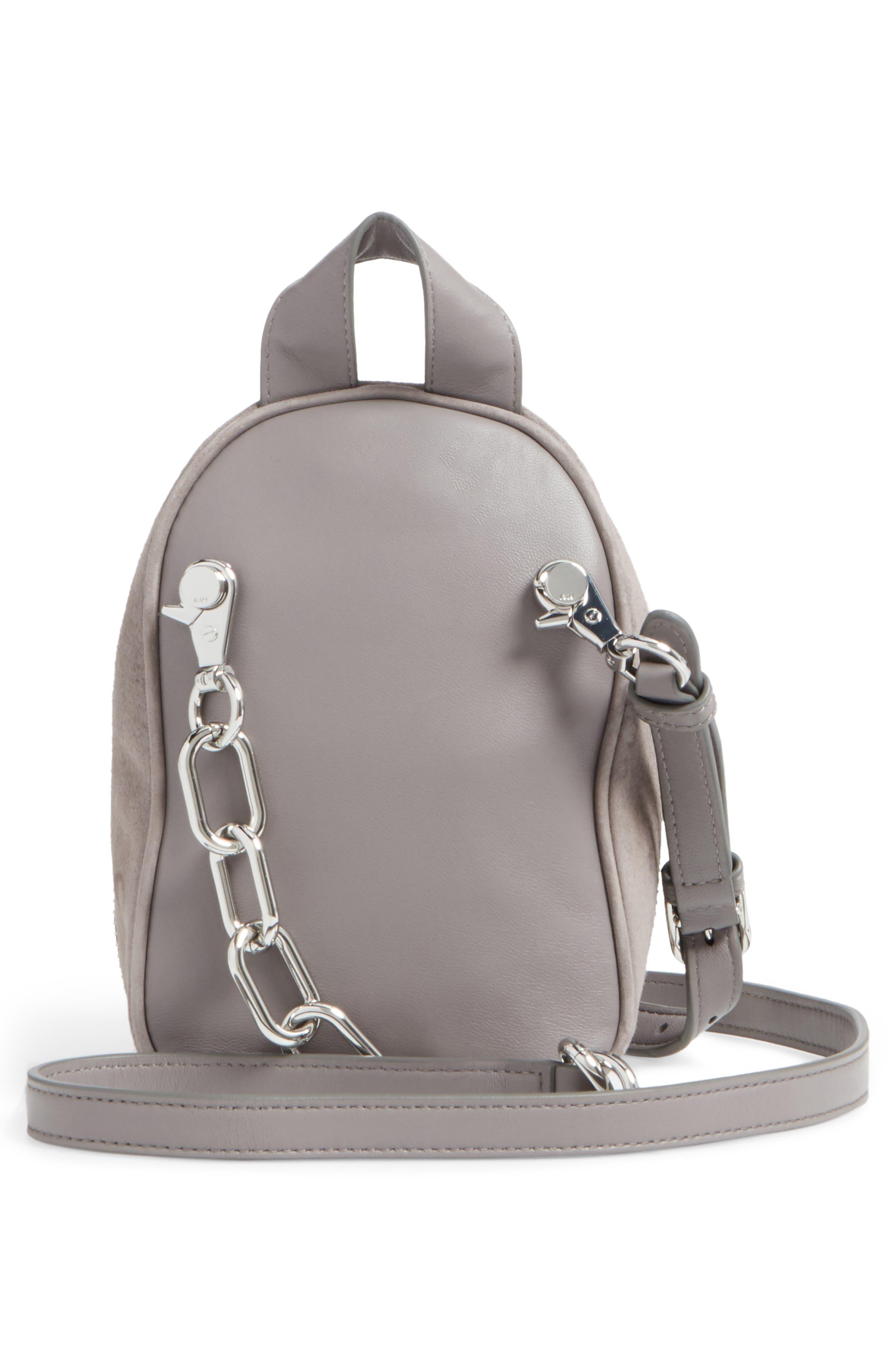 Mini Attica Leather Crossbody Backpack,                             Alternate thumbnail 3, color,                             080
