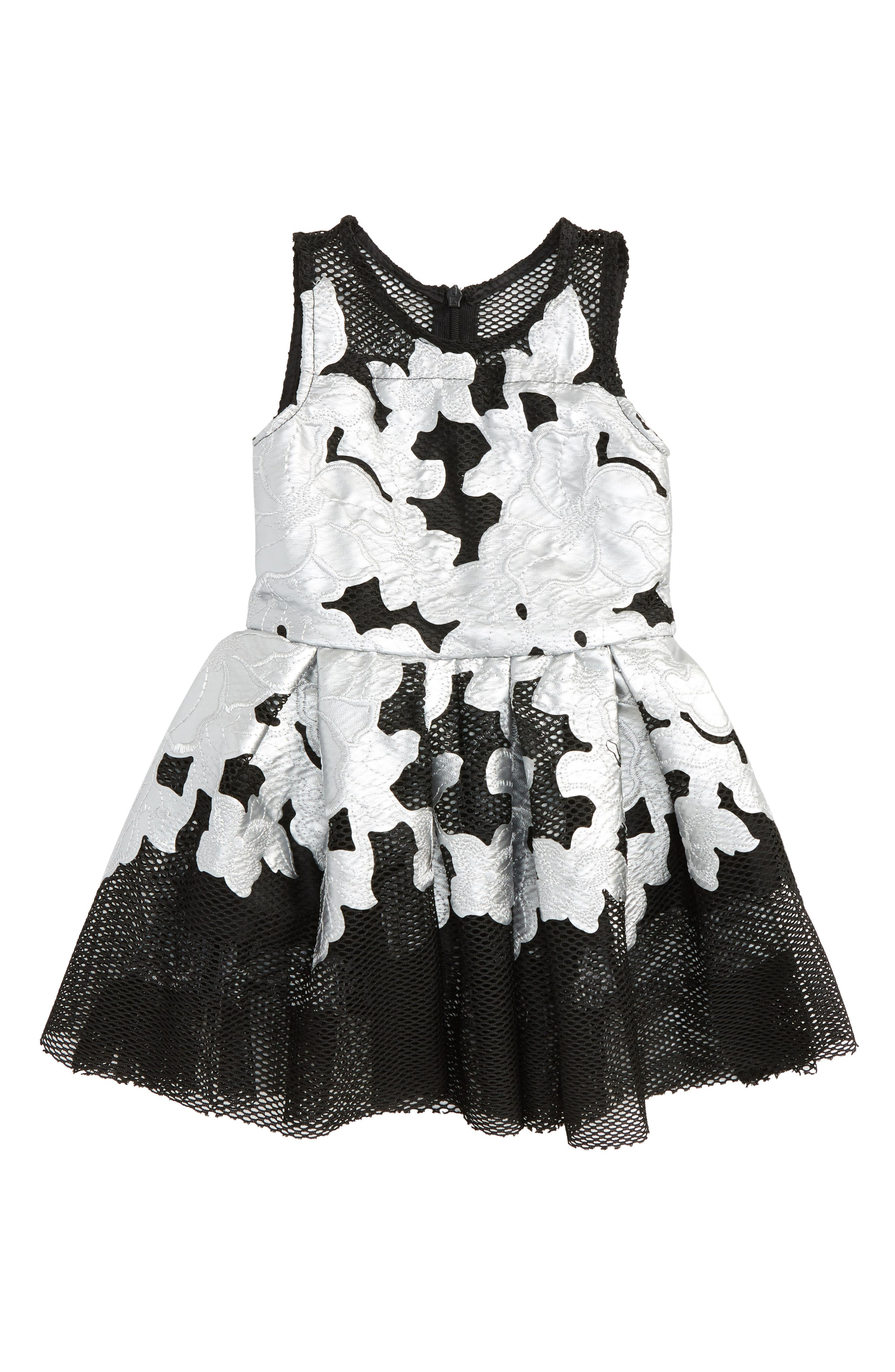 Flower Appliqué Dress,                         Main,                         color, 040