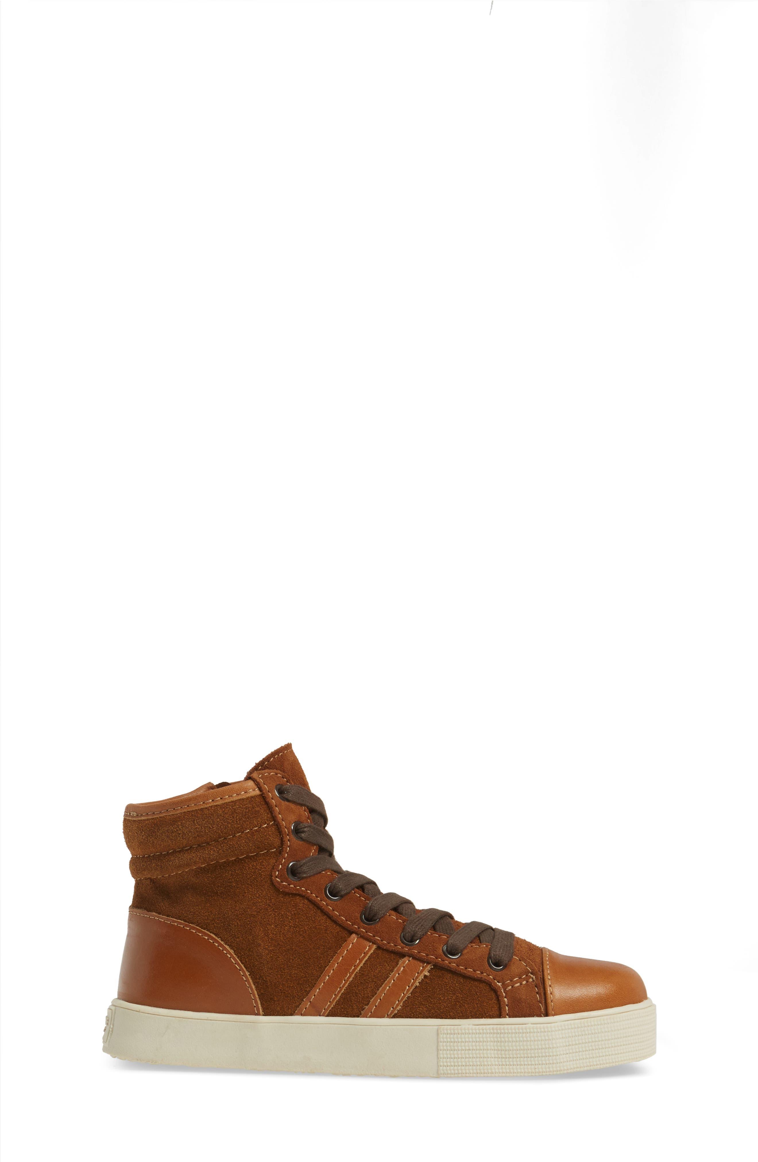 Jay Top High-Top Zip Sneaker,                             Alternate thumbnail 3, color,                             205