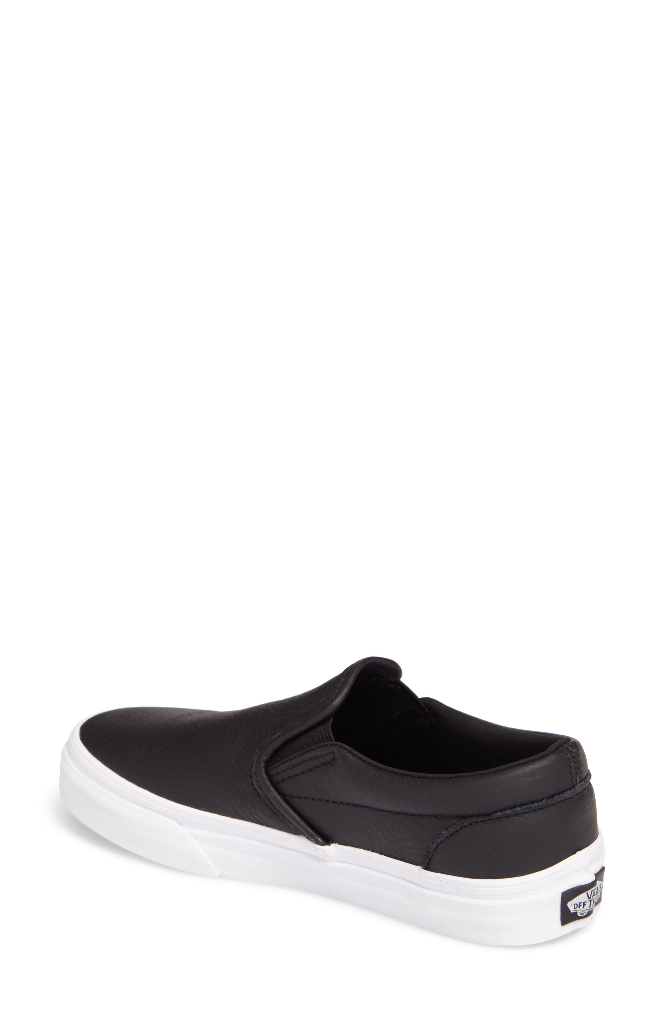 Classic Slip-On Sneaker,                             Alternate thumbnail 2, color,                             BLACK/ TRUE WHITE