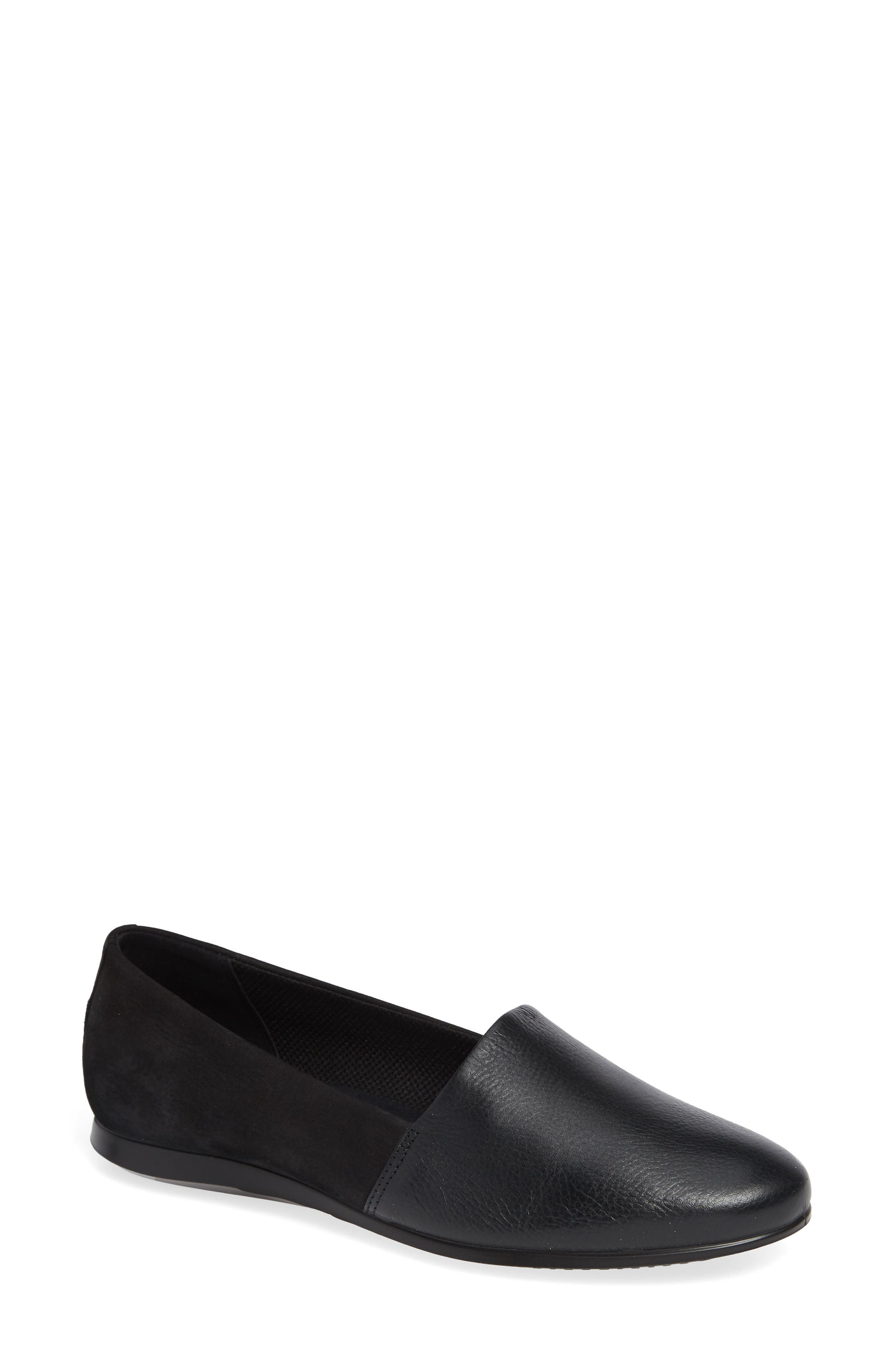Touch Ballerina 2.0 Flat,                         Main,                         color, BLACK LEATHER