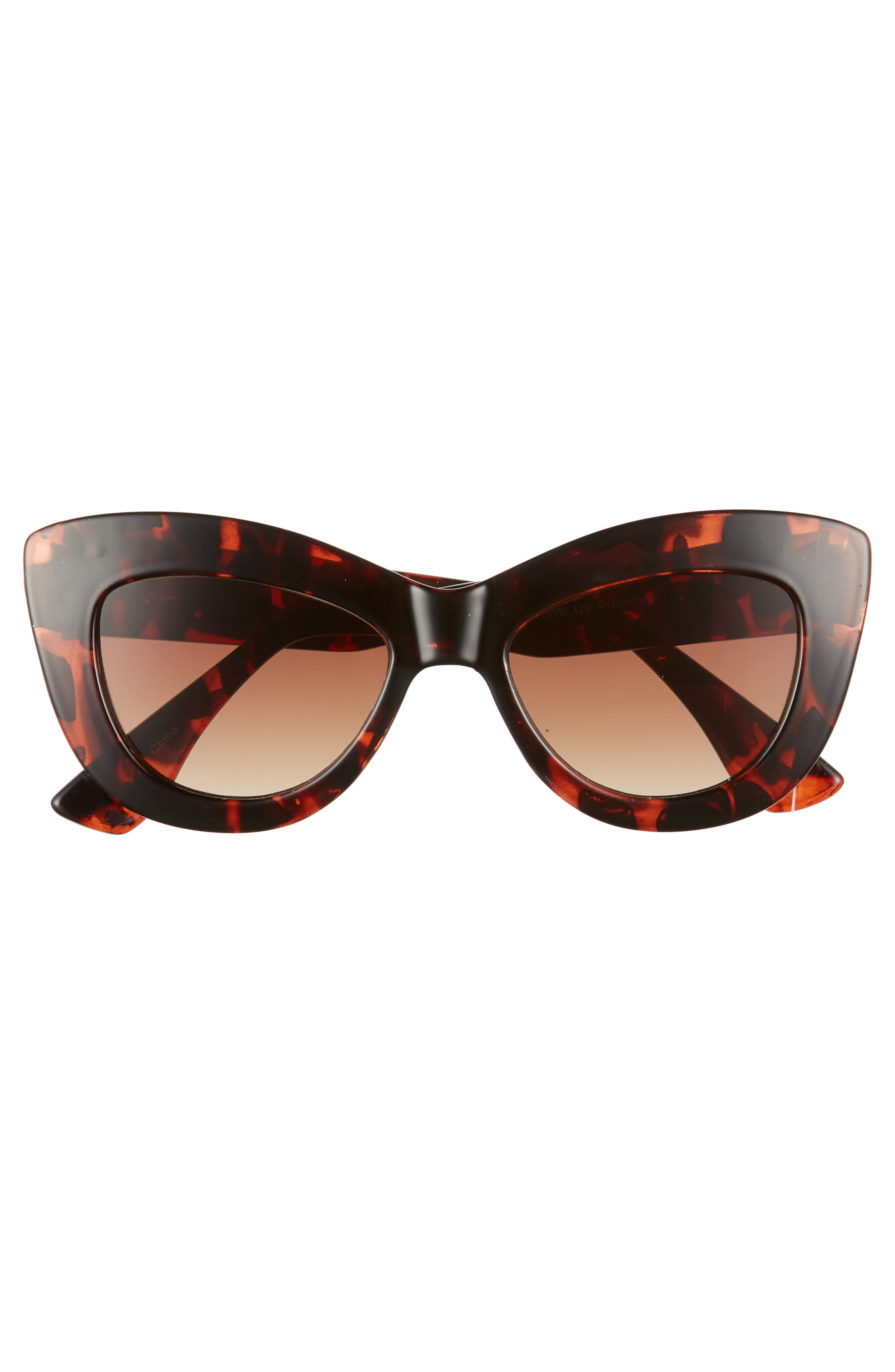 65mm Cat Eye Sunglasses,                             Alternate thumbnail 3, color,                             200