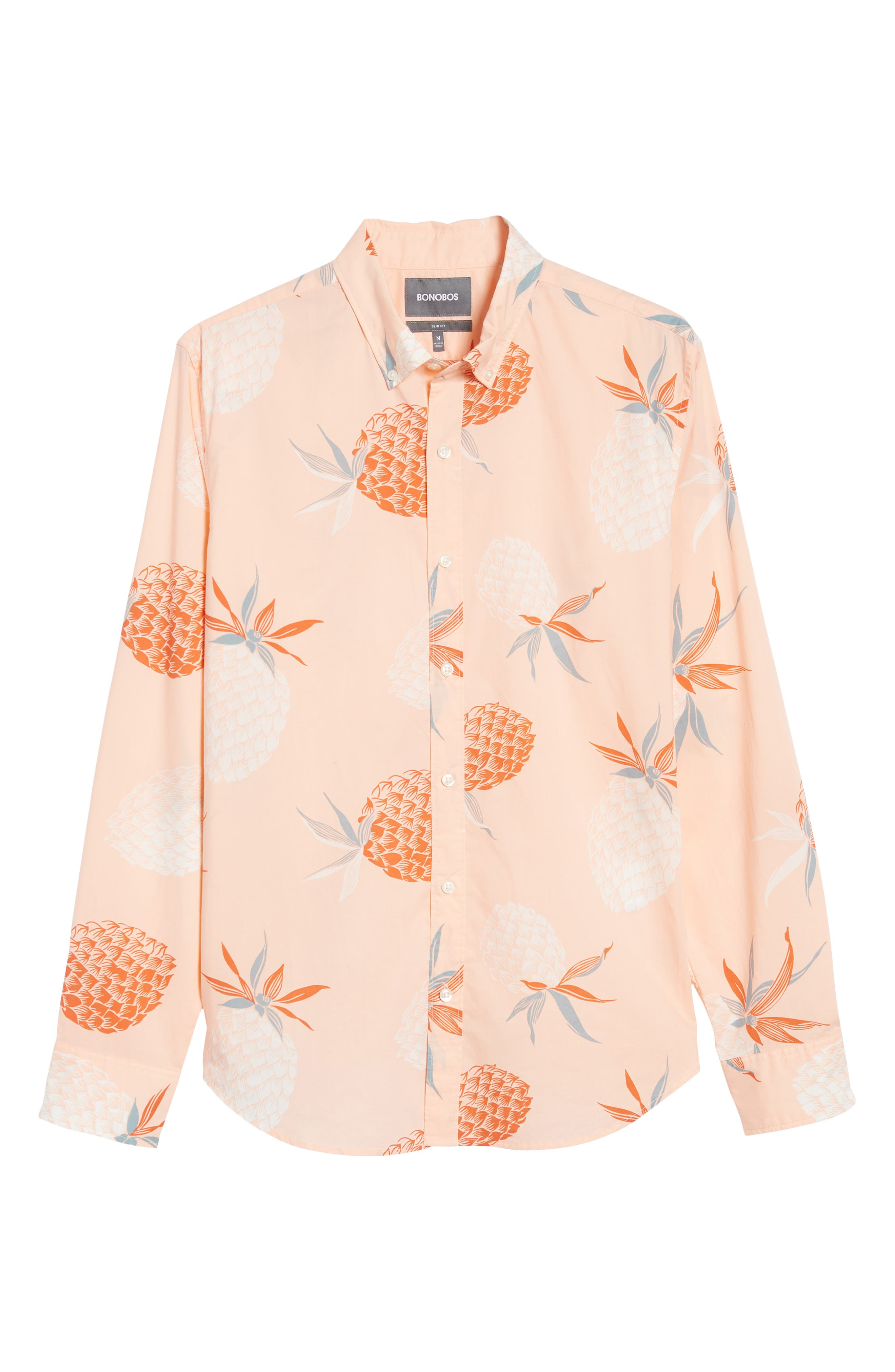 Summerweight Slim Fit Print Sport Shirt,                             Alternate thumbnail 6, color,                             650