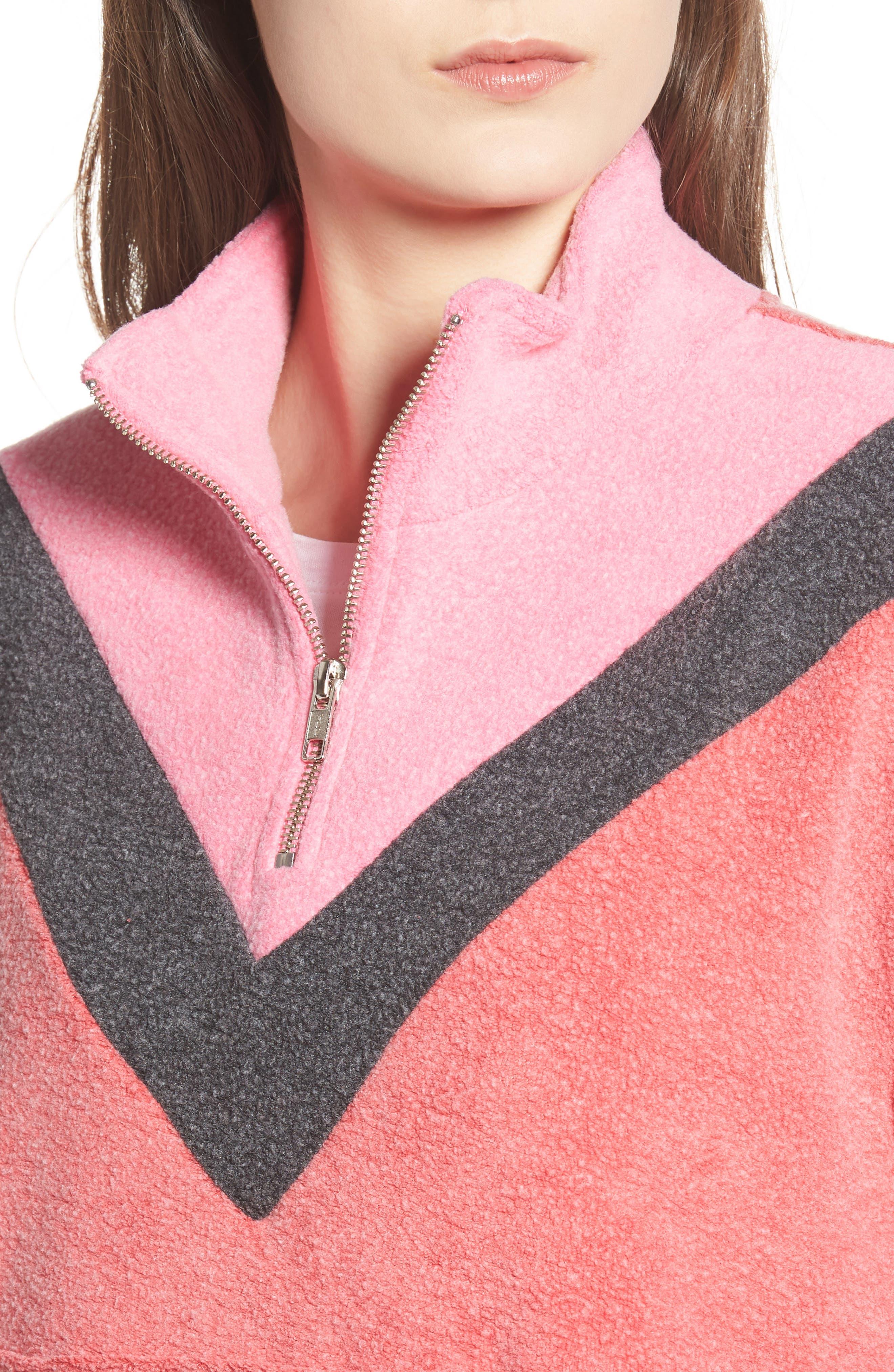 Soto Warm-Up Sweatshirt,                             Alternate thumbnail 4, color,                             SCARLET