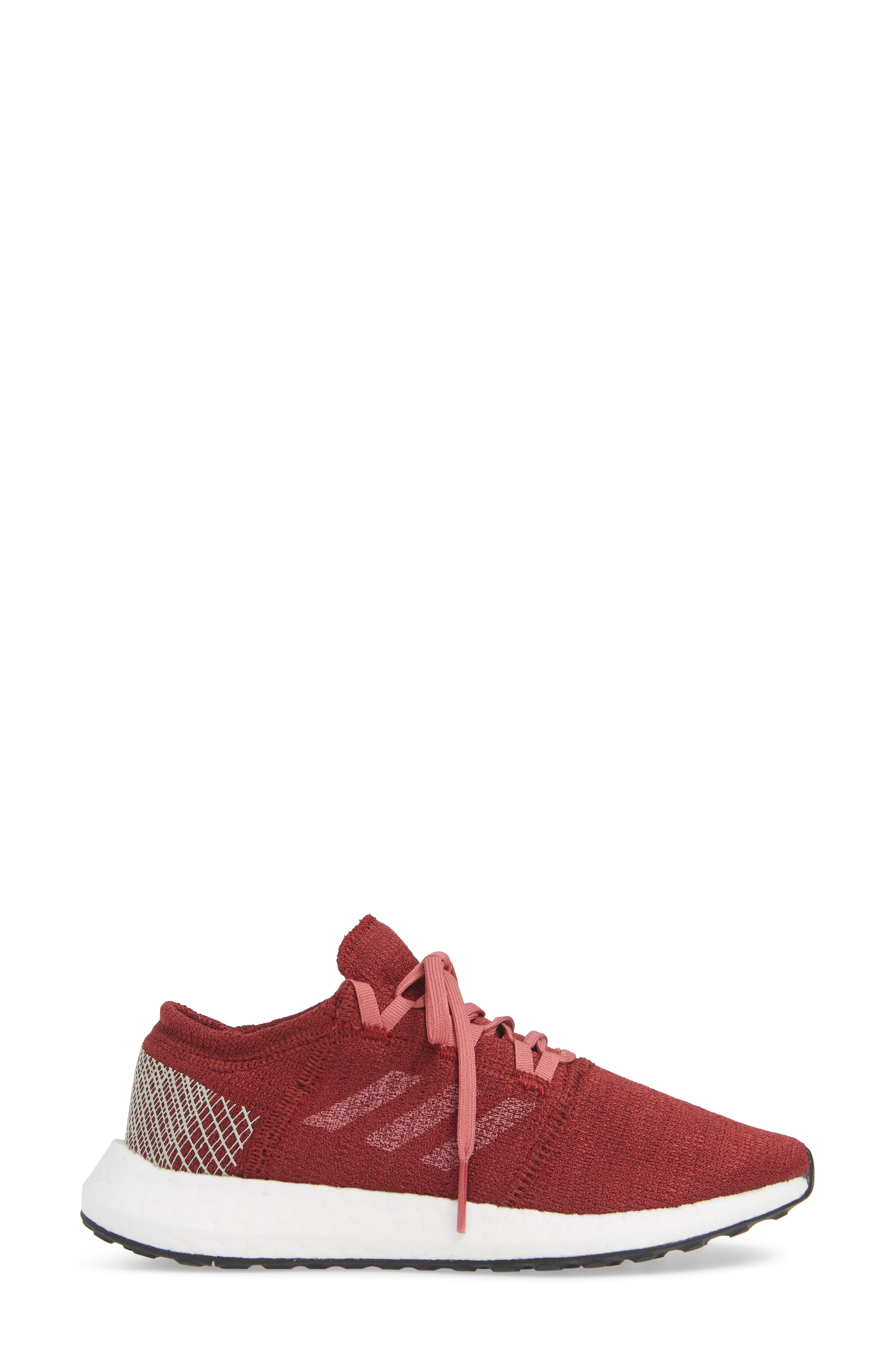 PureBoost X Element Knit Running Shoe,                             Alternate thumbnail 3, color,                             NOBLE MAROON/ MAROON/ BROWN