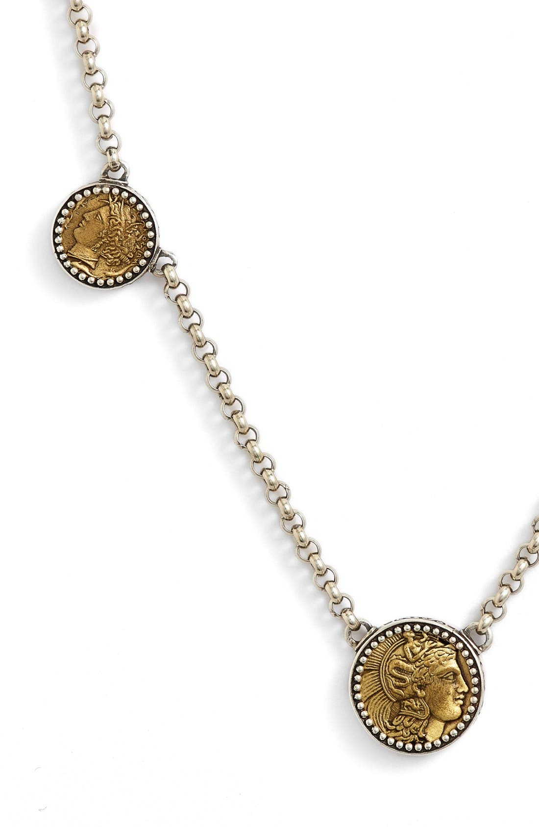 'Goddess' Coin Necklace,                             Alternate thumbnail 2, color,                             040