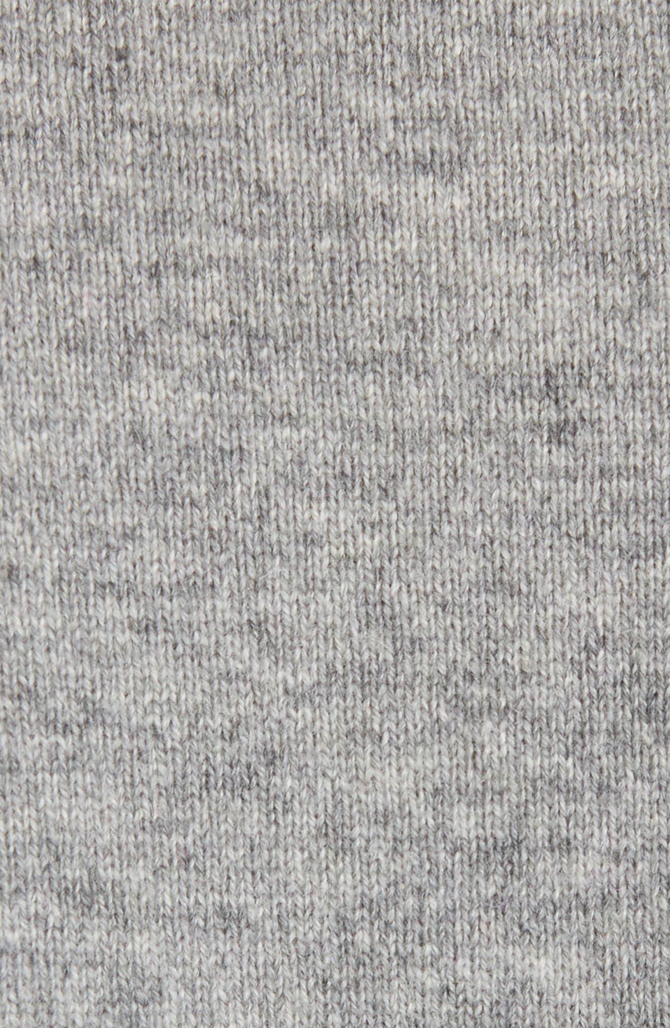 Shredded Logo Cashmere Sweater,                             Alternate thumbnail 5, color,                             GREY