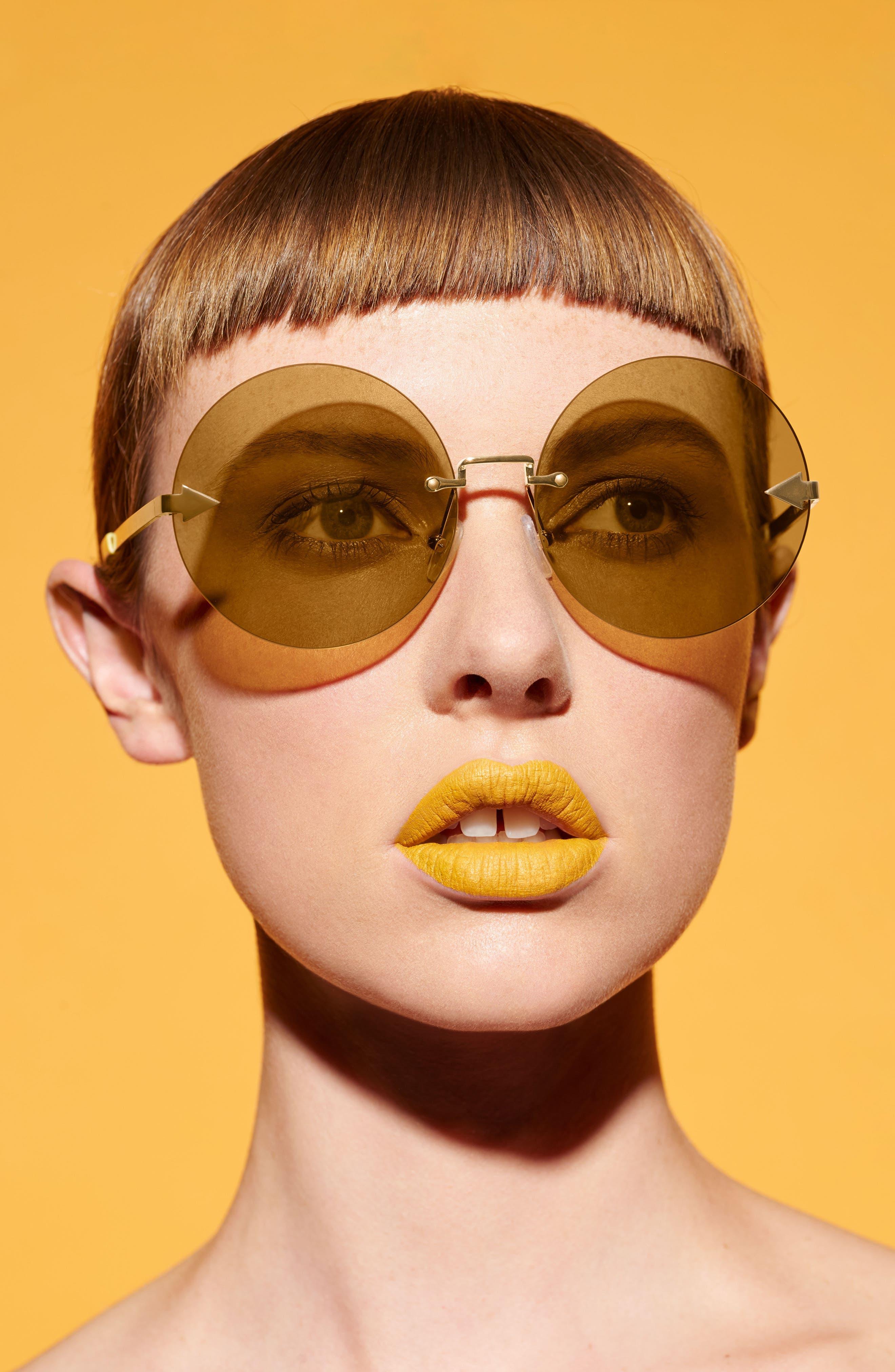 Disco Circus 60mm Rimless Round Sunglasses,                             Alternate thumbnail 17, color,