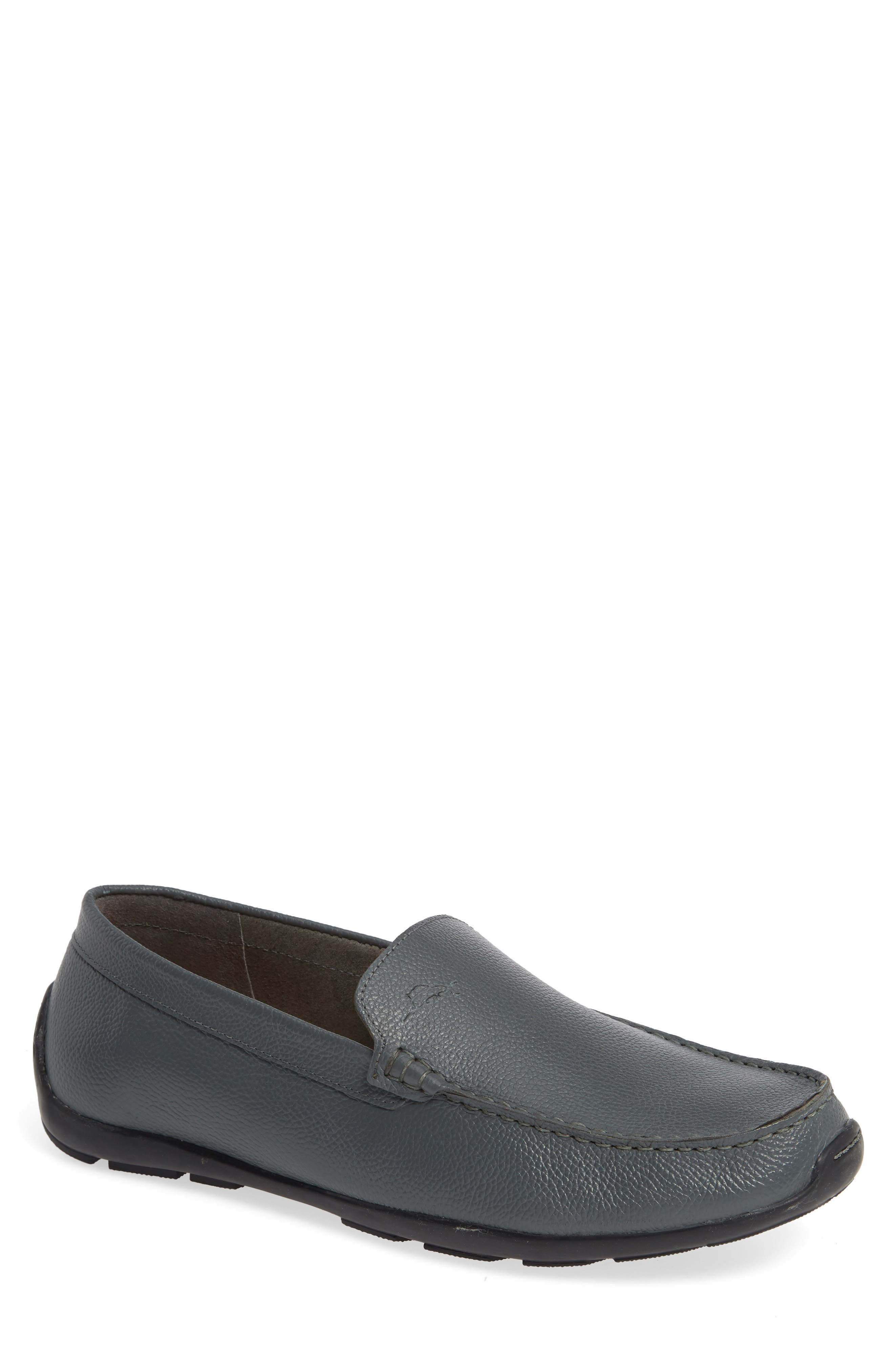 Orion Venetian Loafer,                         Main,                         color, GREY TUMBLED LEATHER