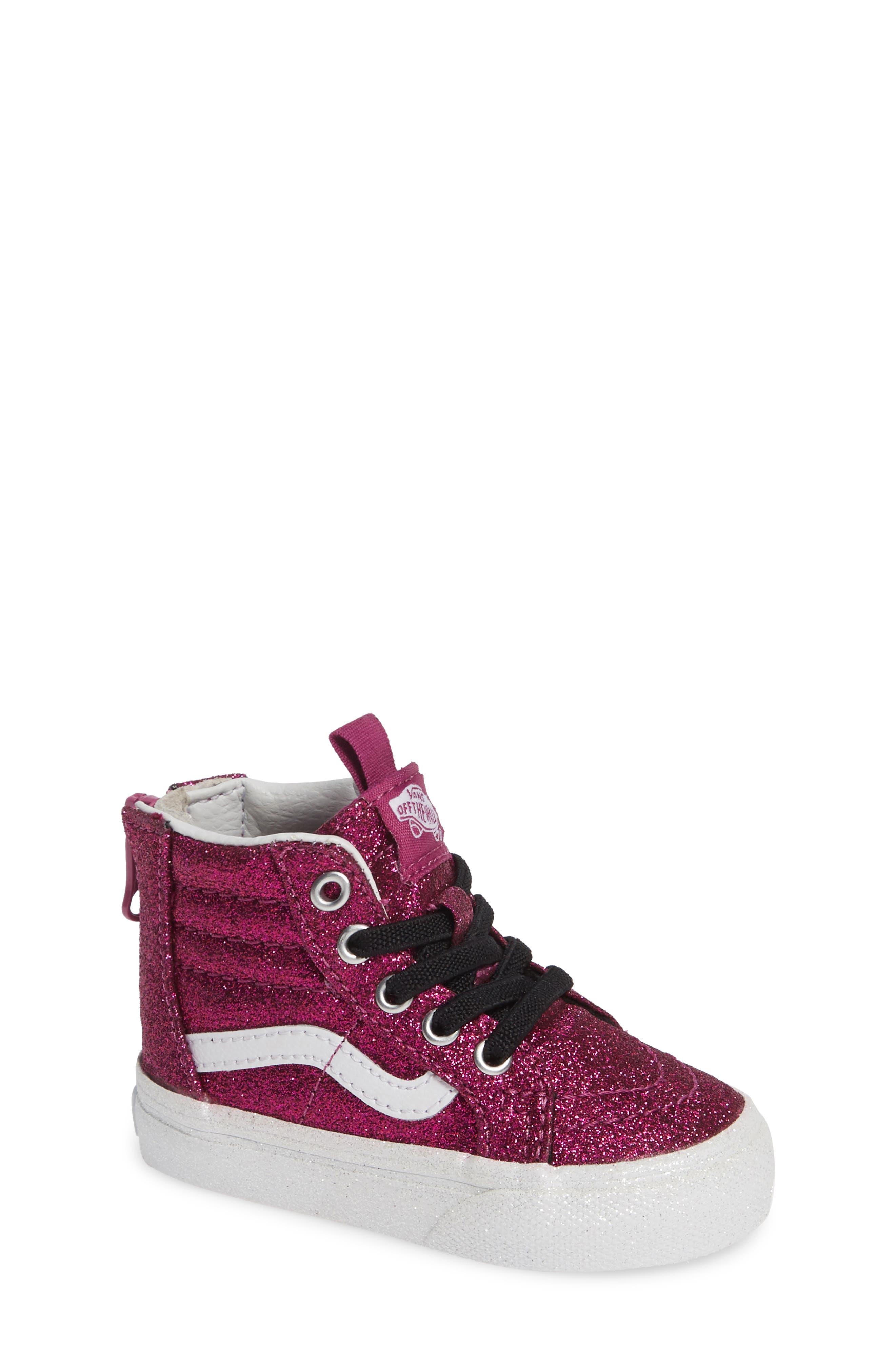 SK8-Hi Zip Sneaker,                         Main,                         color, WILD ASTER/ TRUE WHITE