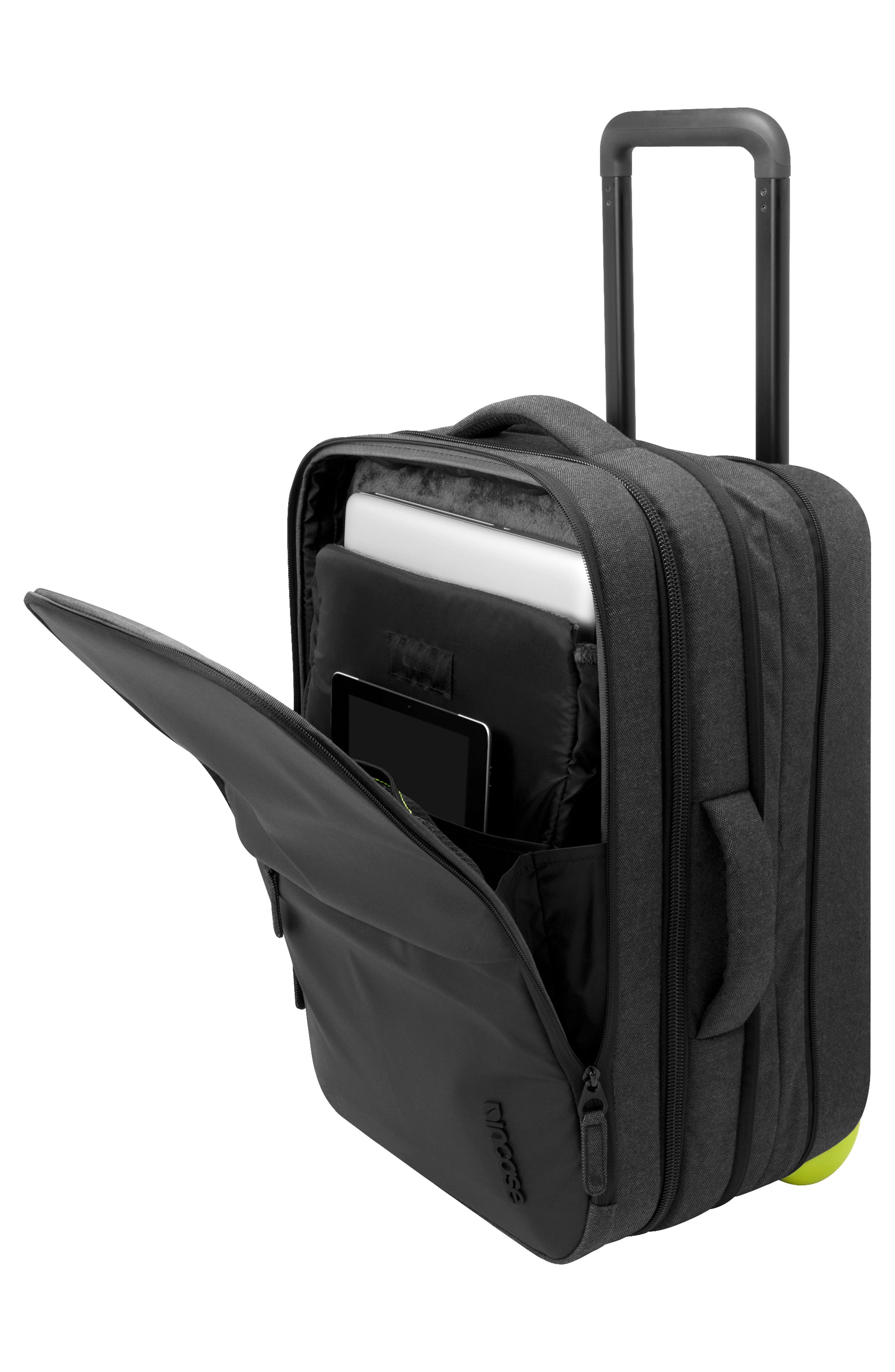 INCASE DESIGNS,                             EO Wheeled 24-Inch Suitcase,                             Alternate thumbnail 2, color,                             BLACK