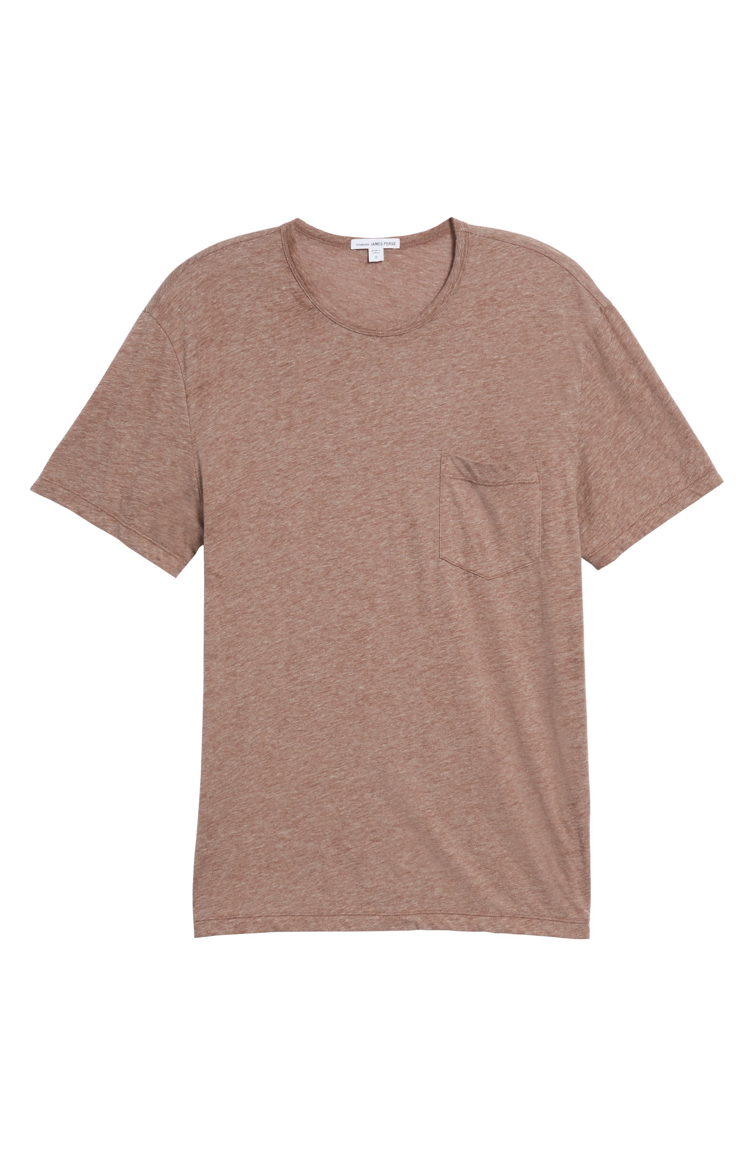 Slubbed Cotton & Linen Pocket T-Shirt,                             Alternate thumbnail 18, color,