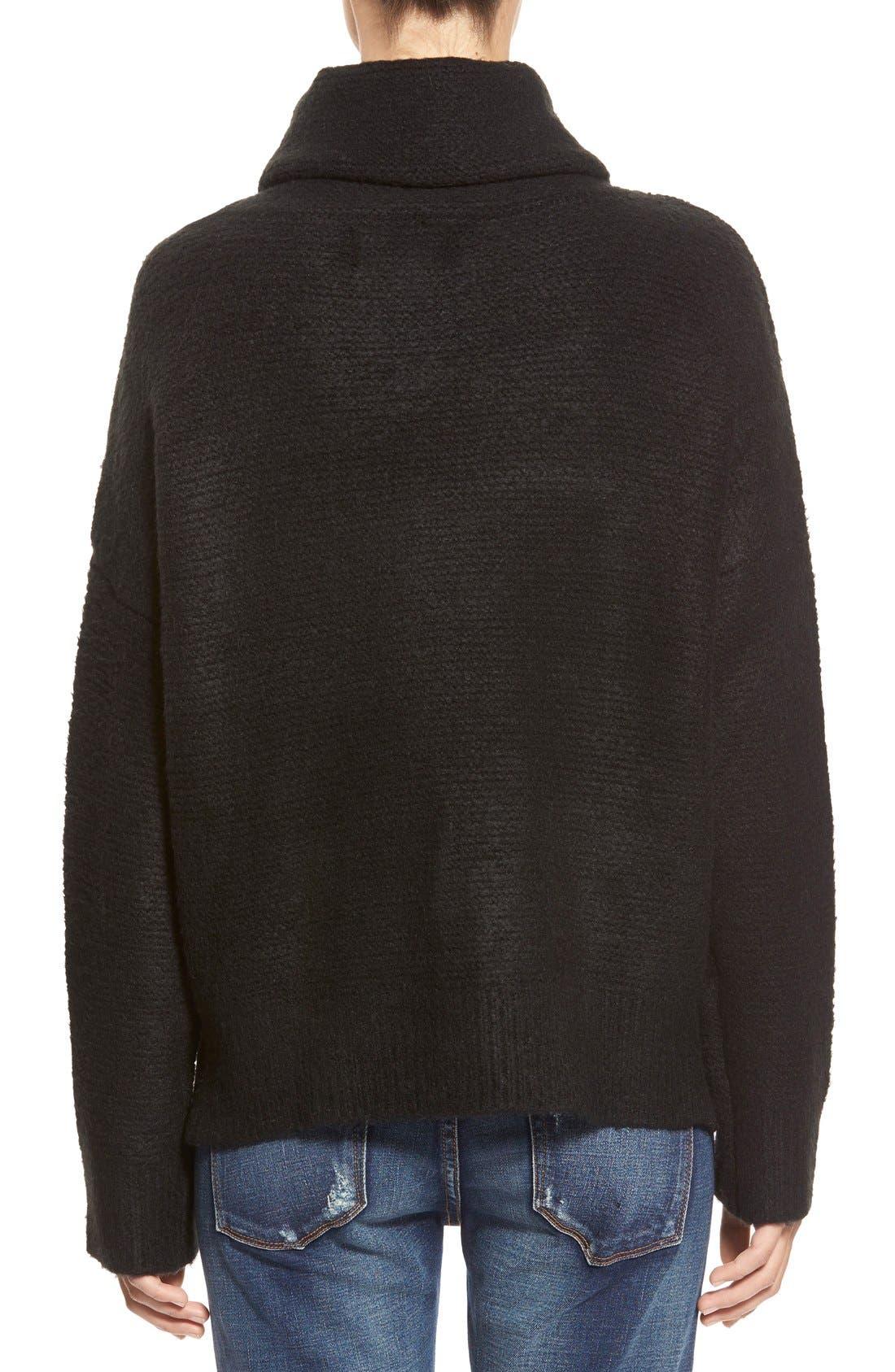 Boxy Turtleneck Sweater,                             Alternate thumbnail 5, color,                             001