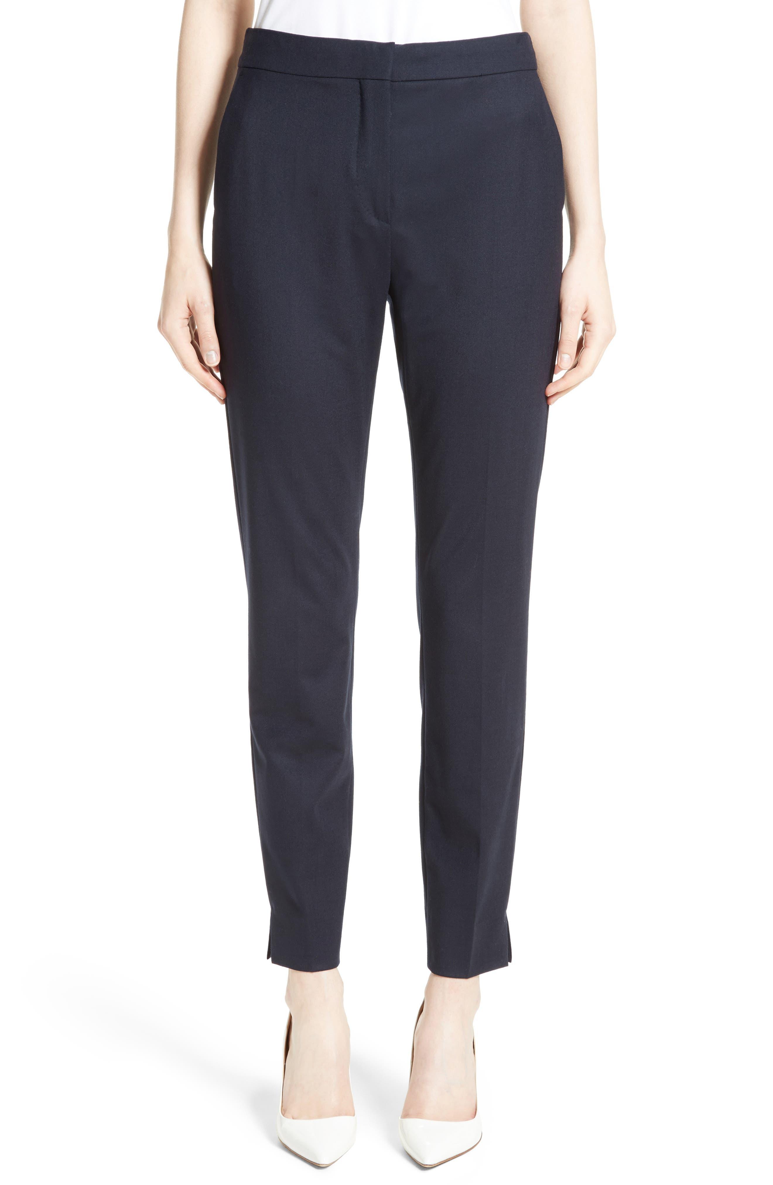 Maser Crop Stretch Wool Pants,                             Main thumbnail 1, color,                             411