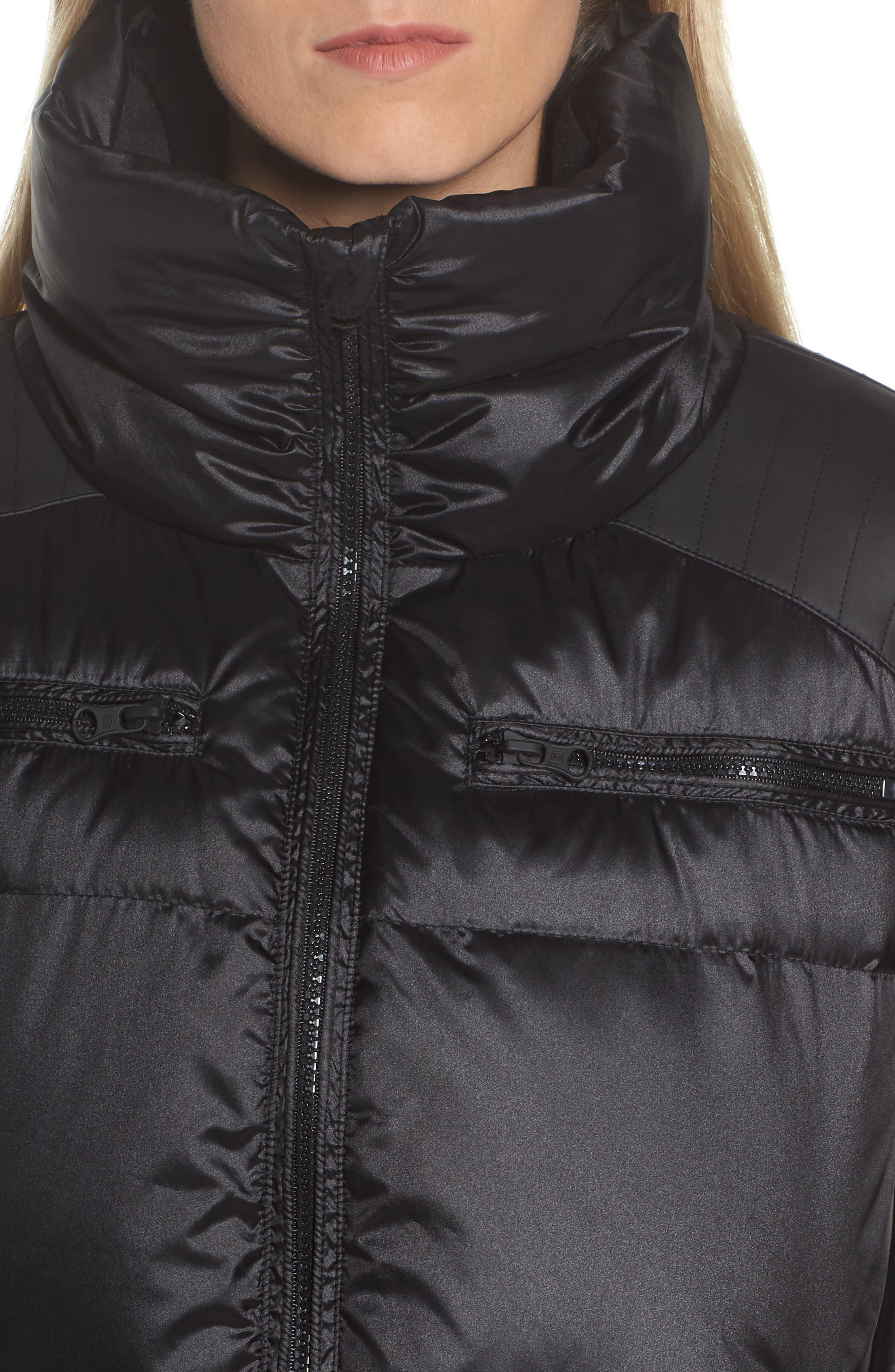 Reversible Puffer Jacket,                             Alternate thumbnail 6, color,                             001