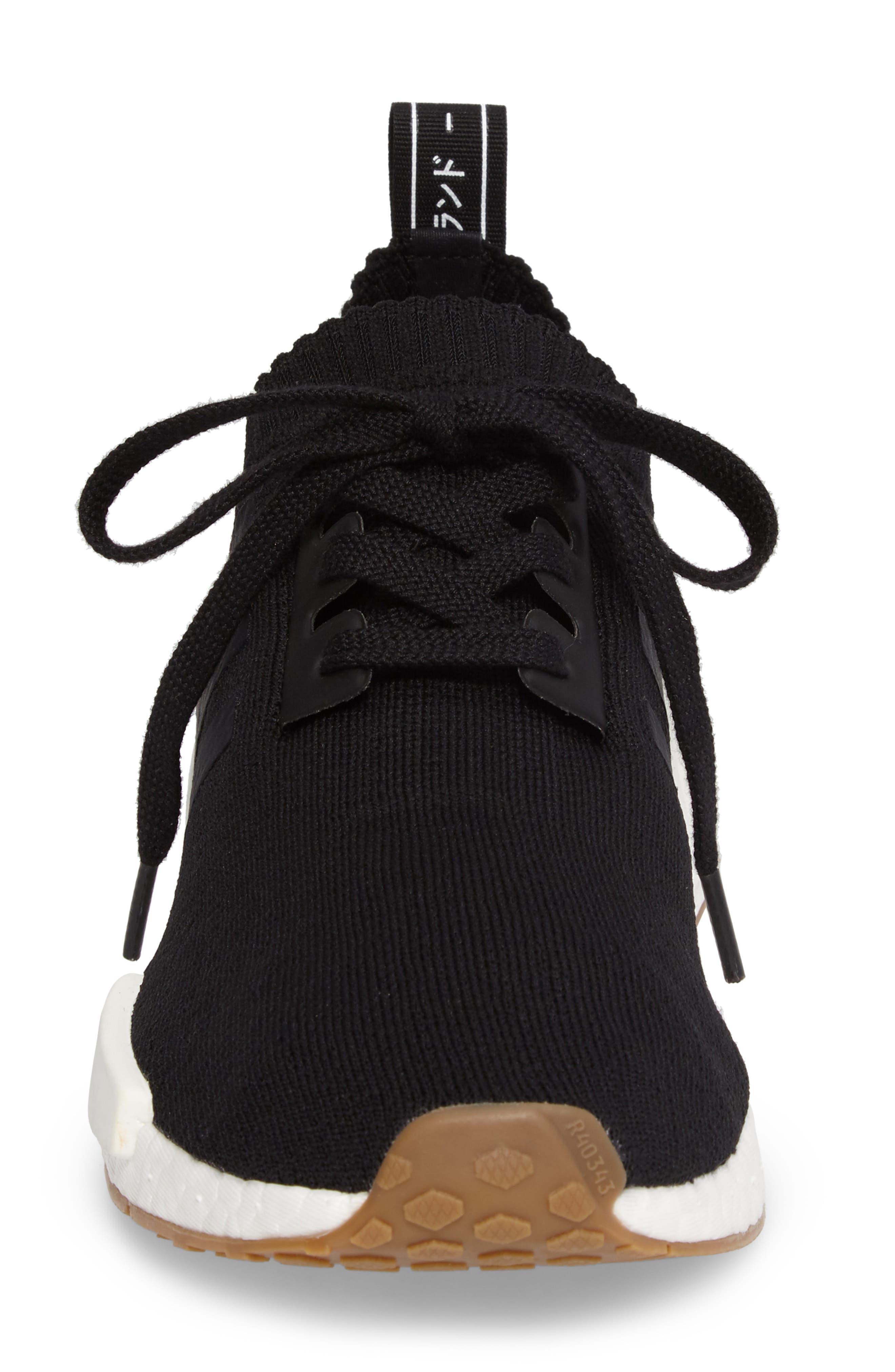 NMD R1 Primeknit Sneaker,                             Alternate thumbnail 4, color,                             002