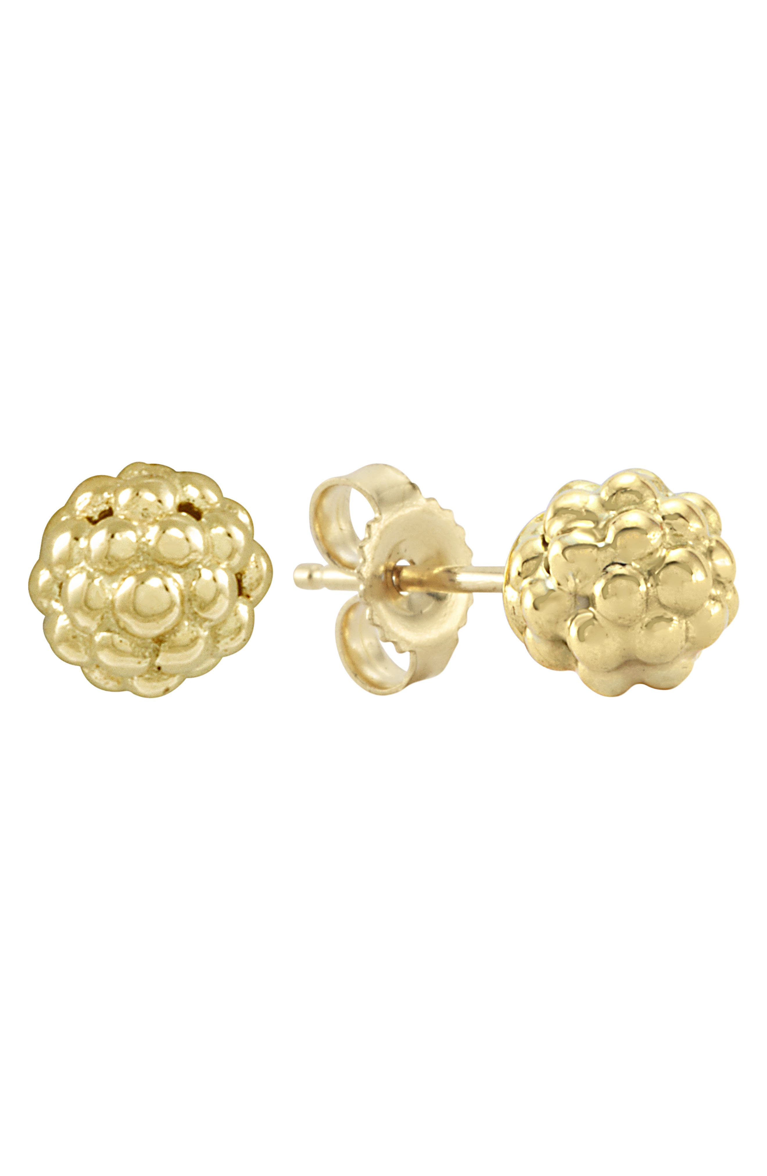 'Caviar Icon' Stud Earrings,                             Alternate thumbnail 2, color,                             GOLD
