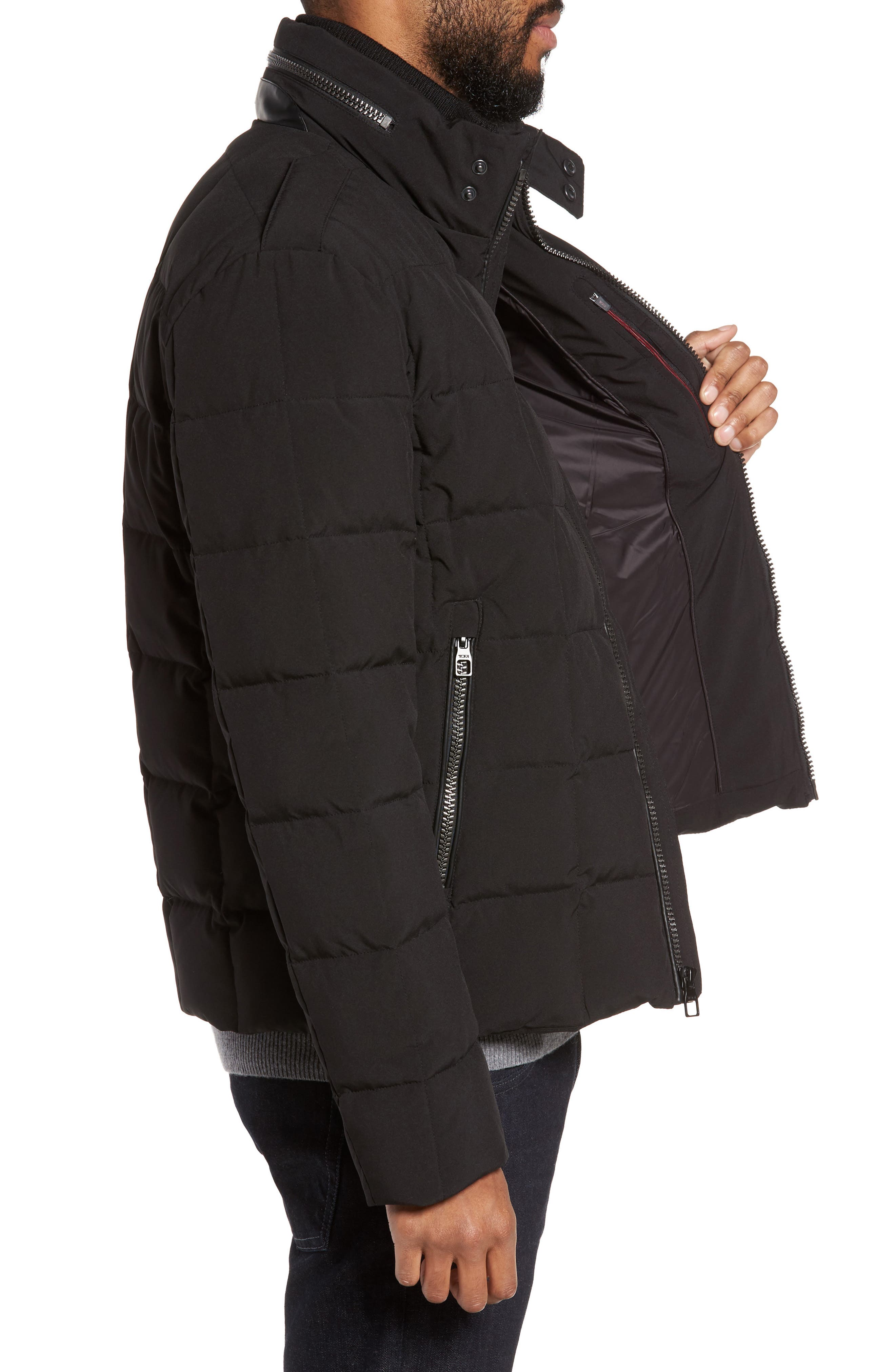 Uptown Down Puffer Jacket,                             Alternate thumbnail 3, color,                             001