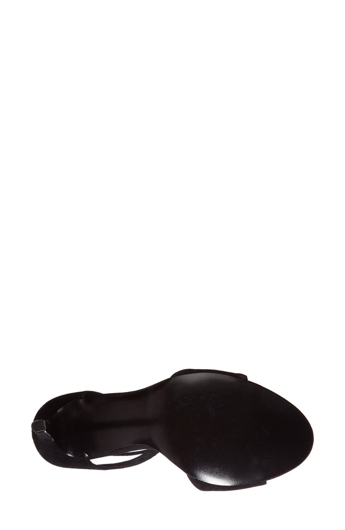 'Semona' Suede Ankle Strap Sandal,                             Alternate thumbnail 4, color,                             001