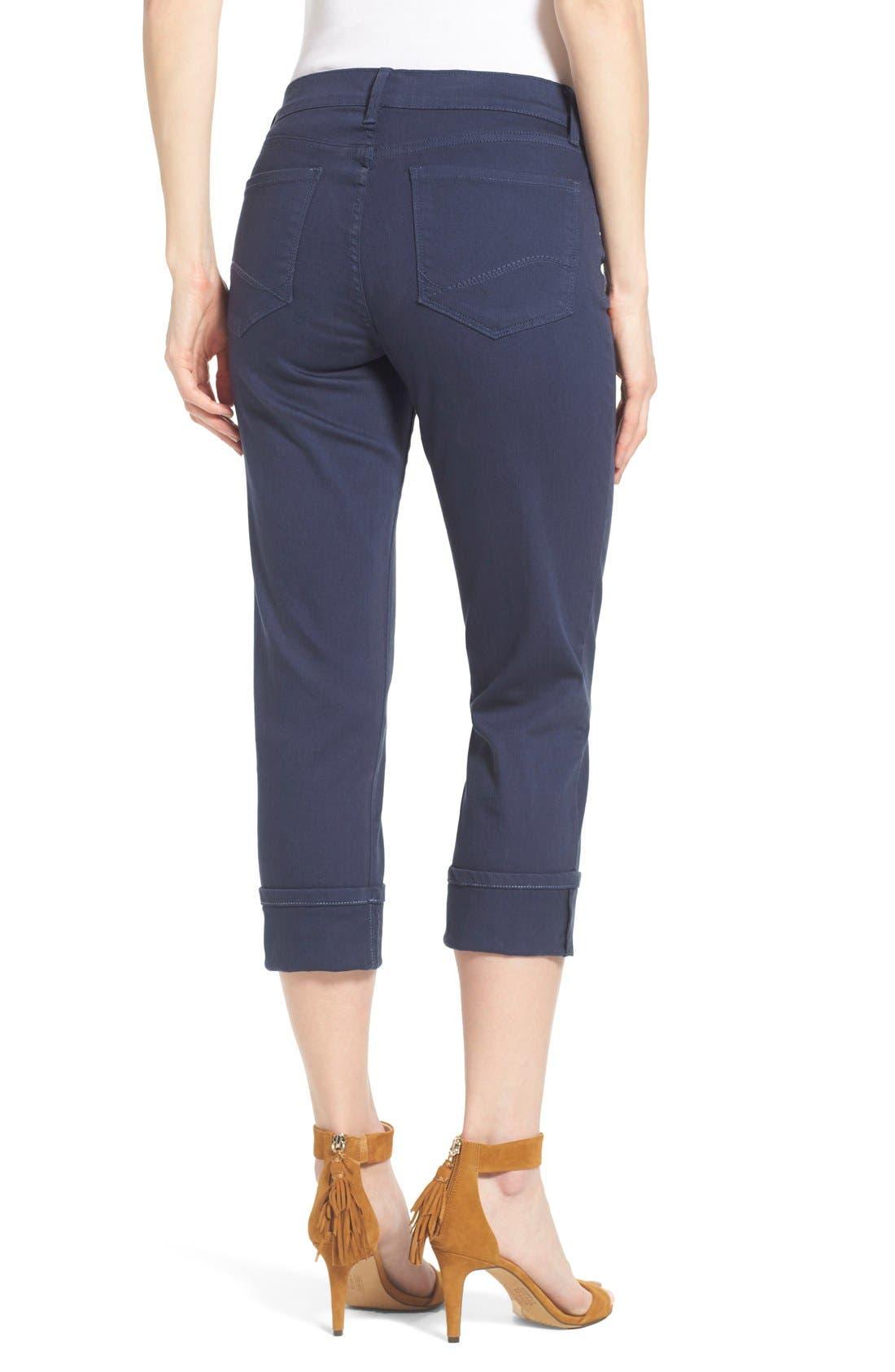 'Dayla' Colored Wide Cuff Capri Jeans,                             Alternate thumbnail 49, color,