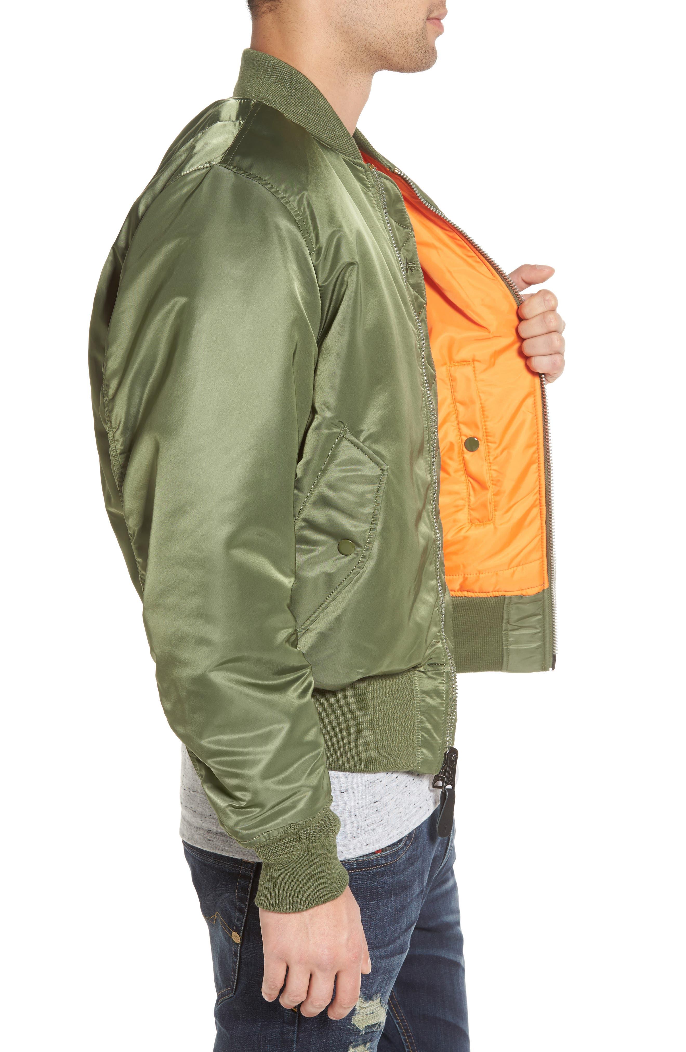 'MA-1' Slim Fit Bomber Jacket,                             Alternate thumbnail 18, color,