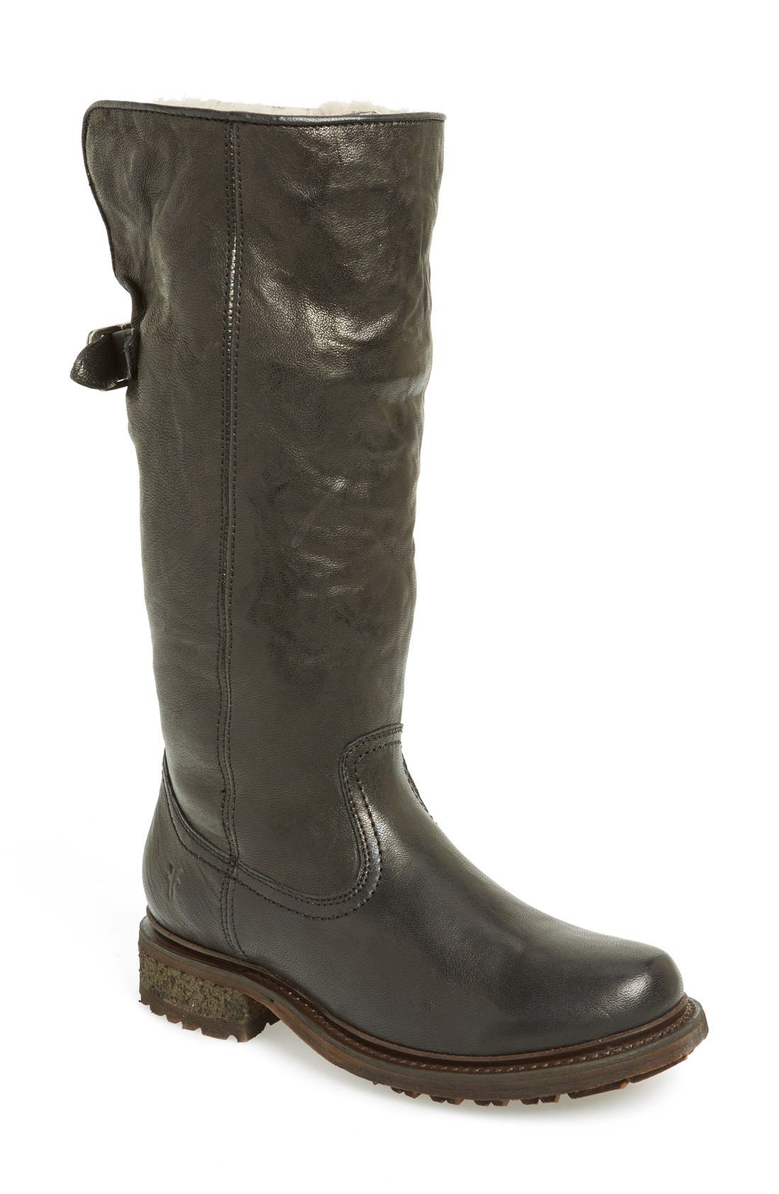 'Valerie' Pull On Shearling Boot,                             Main thumbnail 2, color,