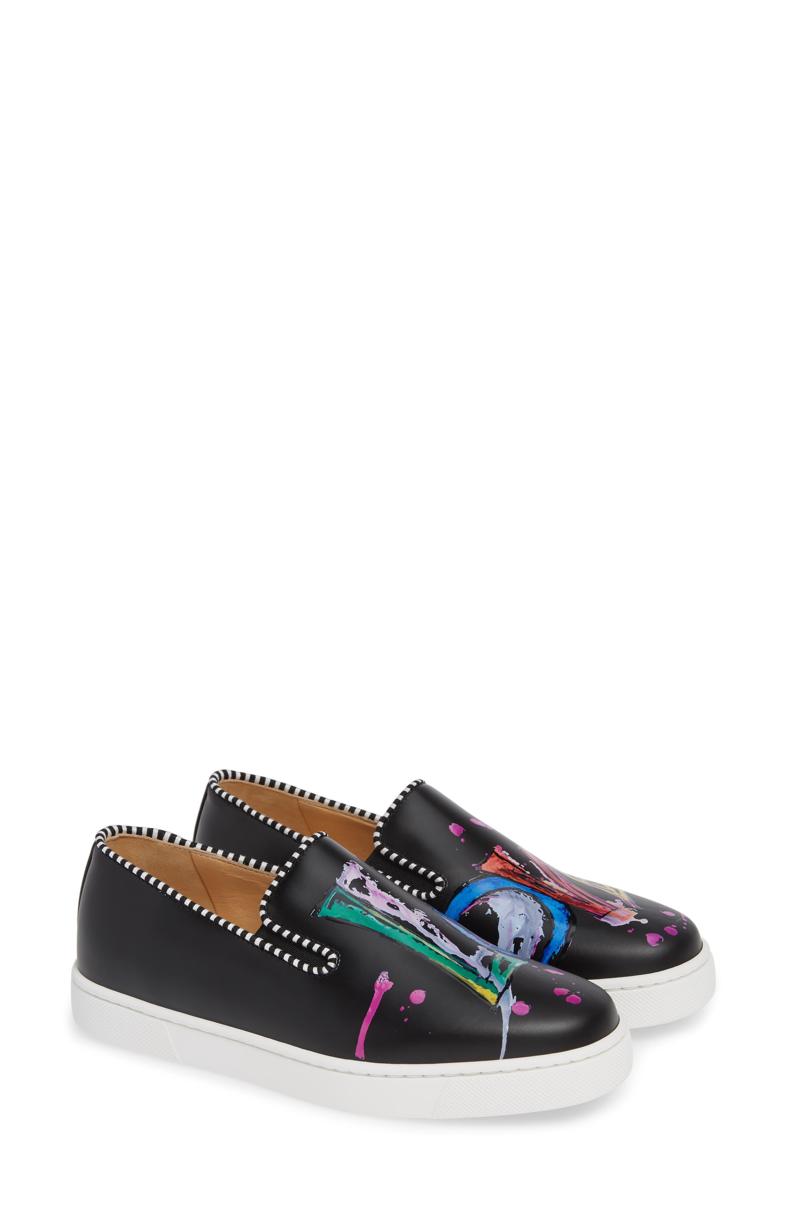 Loubi Love Slip-On Sneaker,                             Alternate thumbnail 2, color,                             BLACK