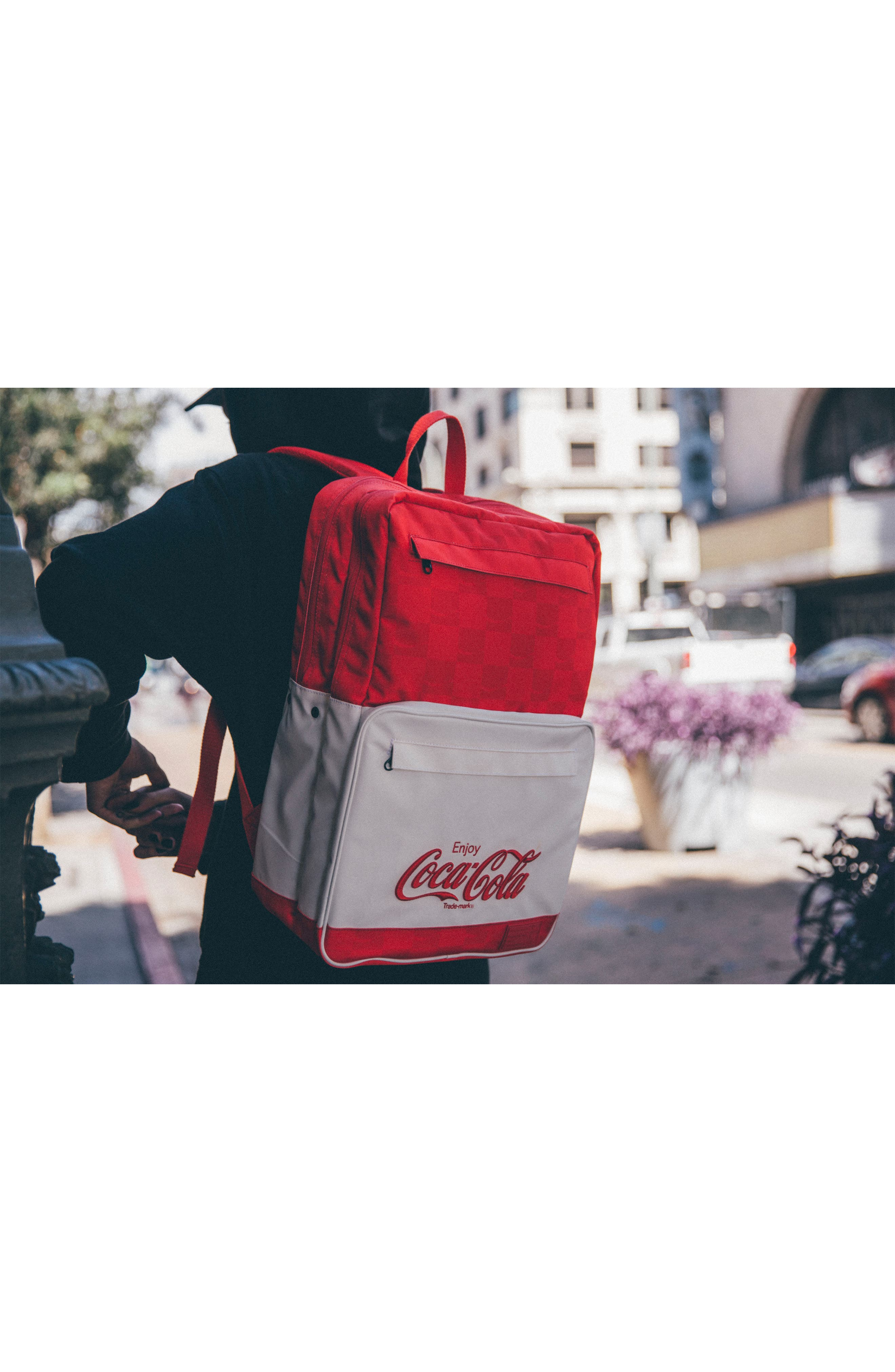 Coca Cola Sneaker Backpack,                             Alternate thumbnail 7, color,