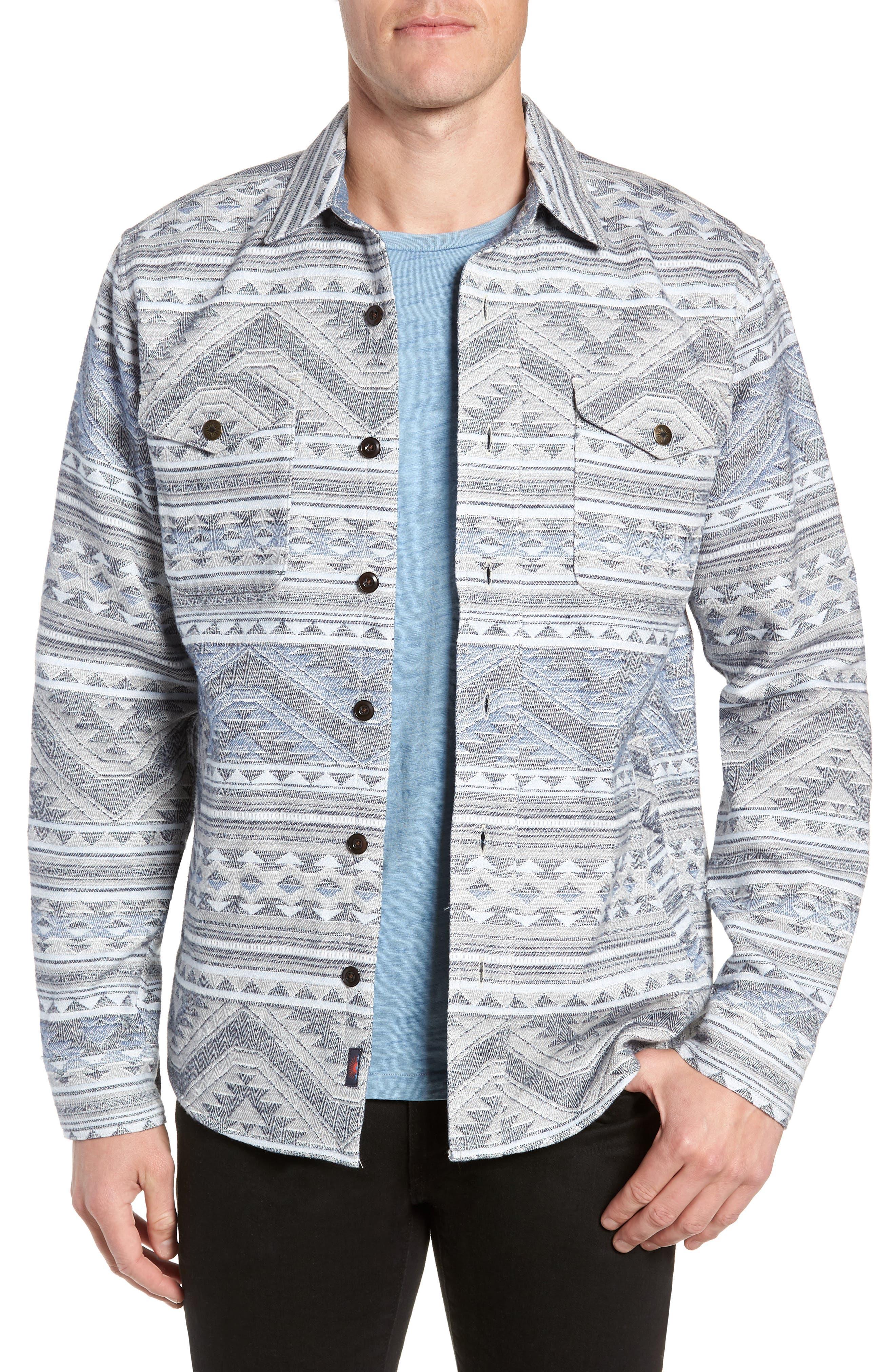 Durango CPO Cotton Work Shirt,                             Main thumbnail 1, color,                             TWILIGHT GLACIER