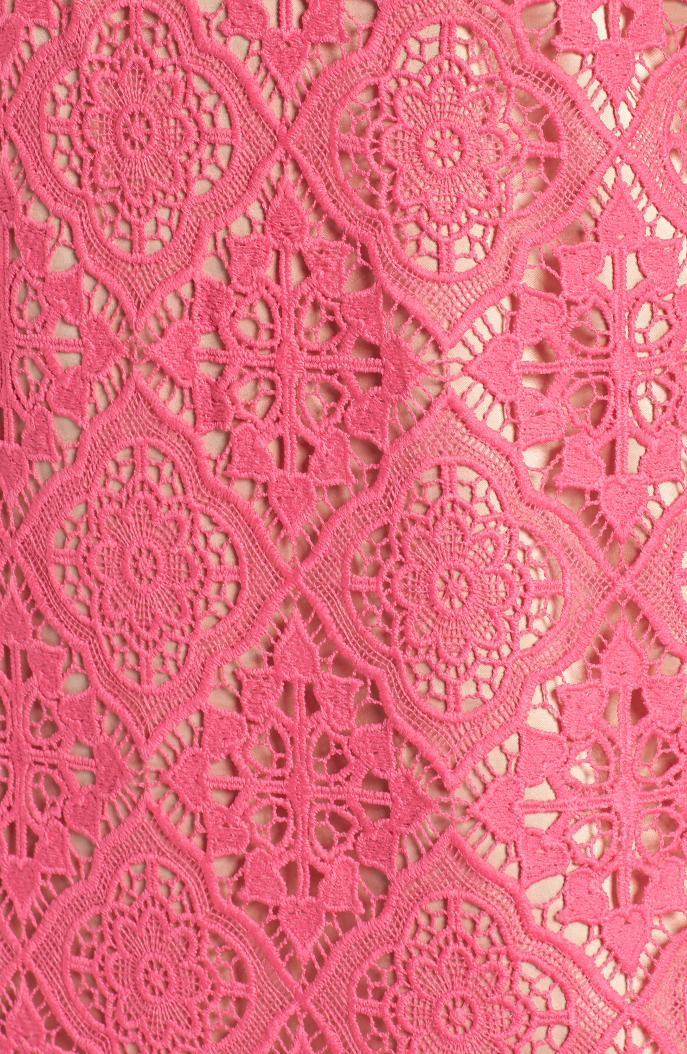 Lace Sleeveless Shift Dress,                             Alternate thumbnail 5, color,                             670