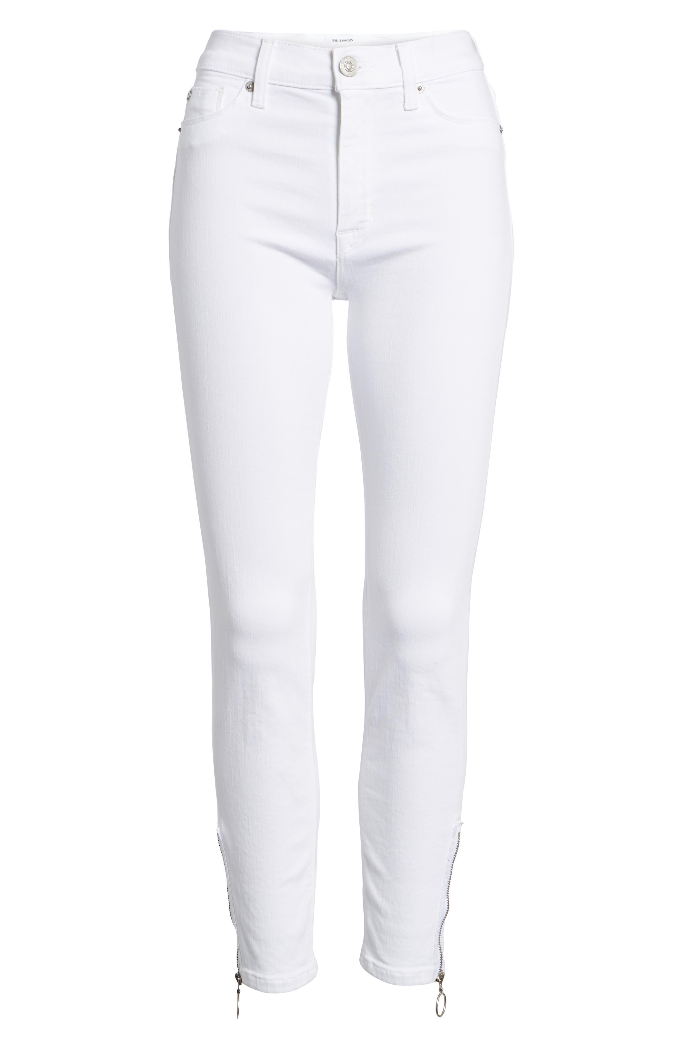 Barbara High Waist Ankle Skinny Jeans,                             Alternate thumbnail 6, color,                             110