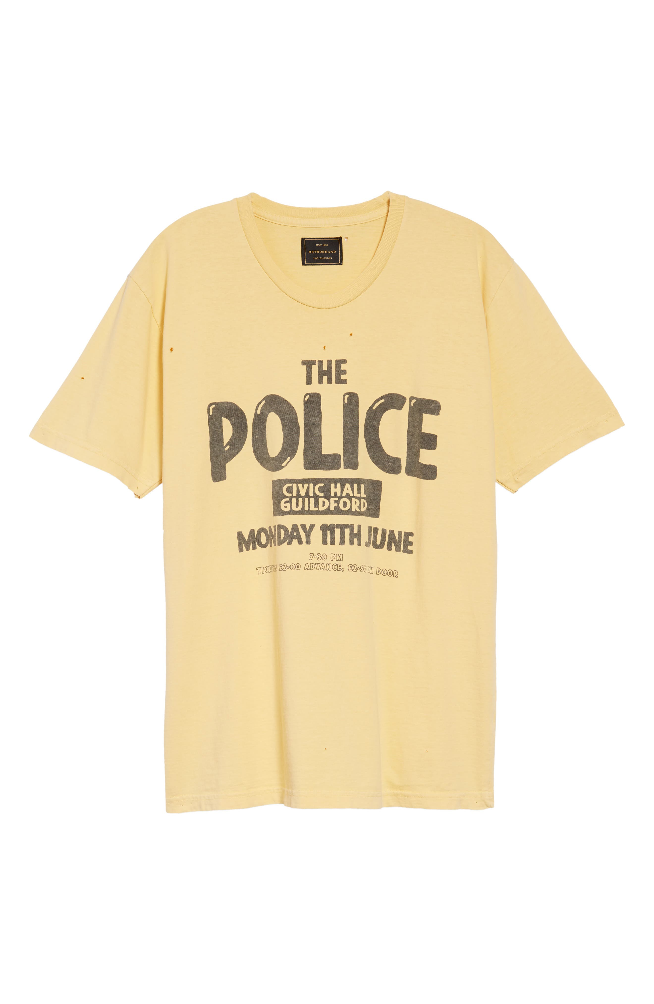 The Police Graphic T-Shirt,                             Alternate thumbnail 6, color,                             ANTIQUE YELLOW