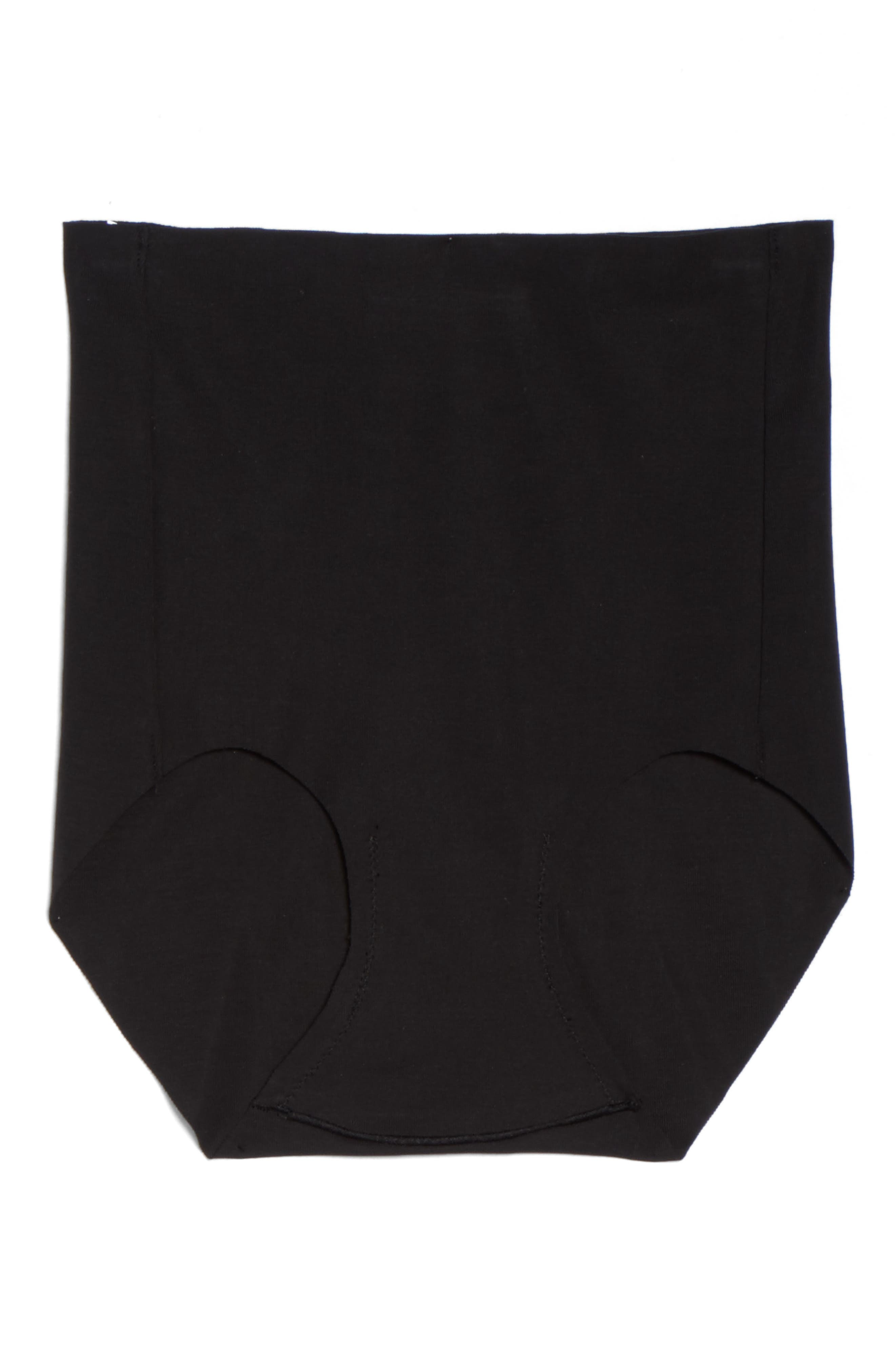 Beyond Naked High Waist Briefs,                             Alternate thumbnail 6, color,                             BLACK