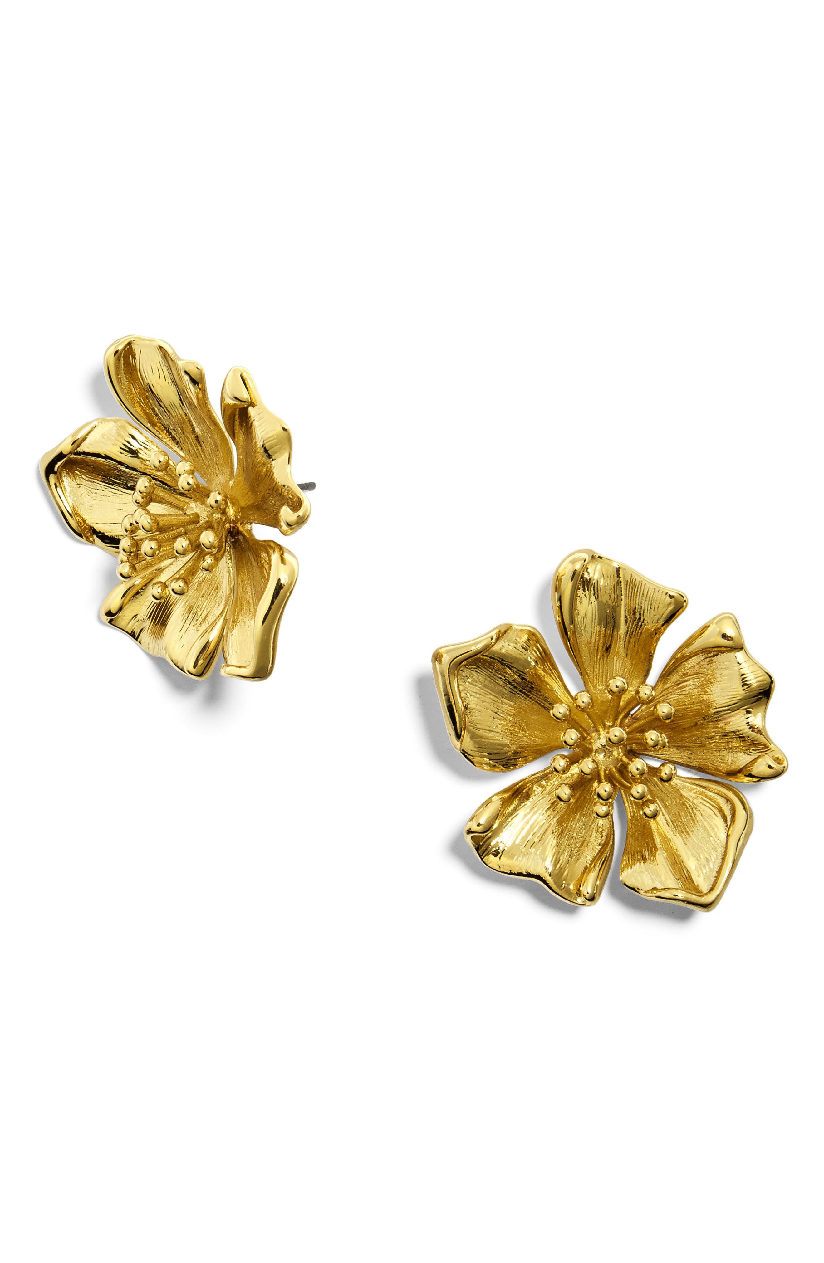 Azalea Stud Earrings,                         Main,                         color, GOLD