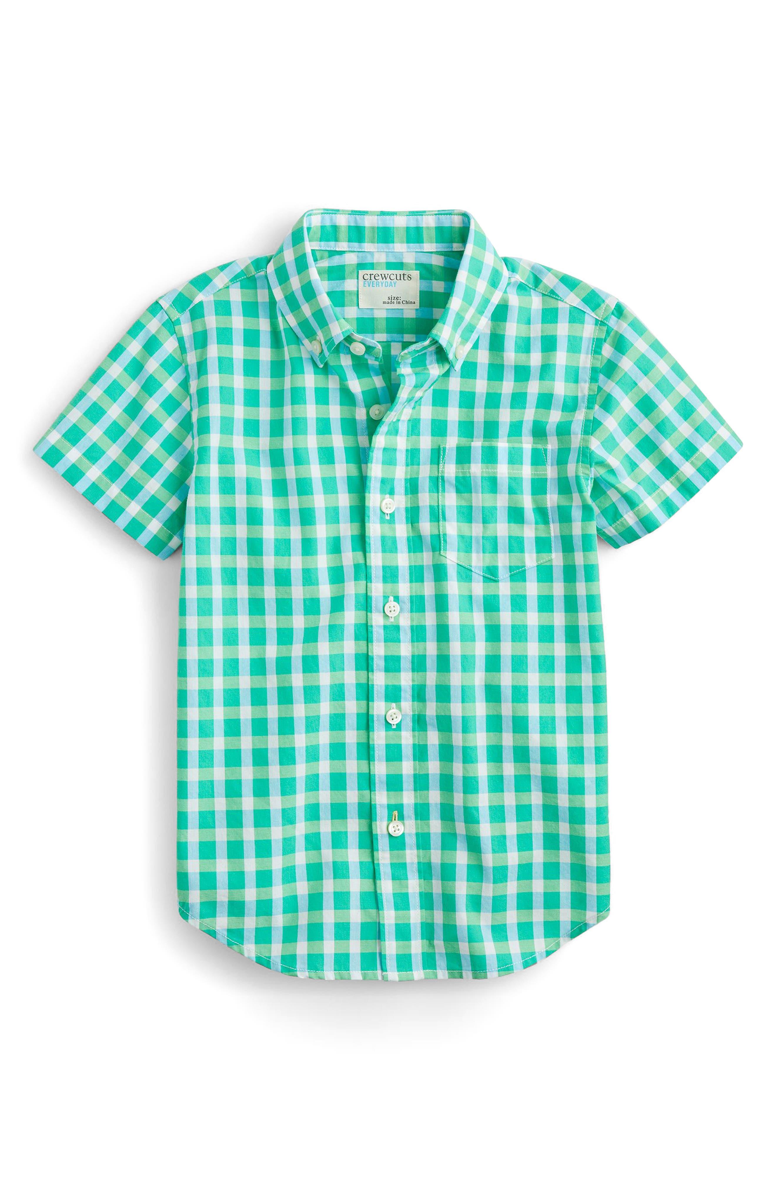 Secret Wash Gingham Check Shirt,                             Main thumbnail 1, color,                             300