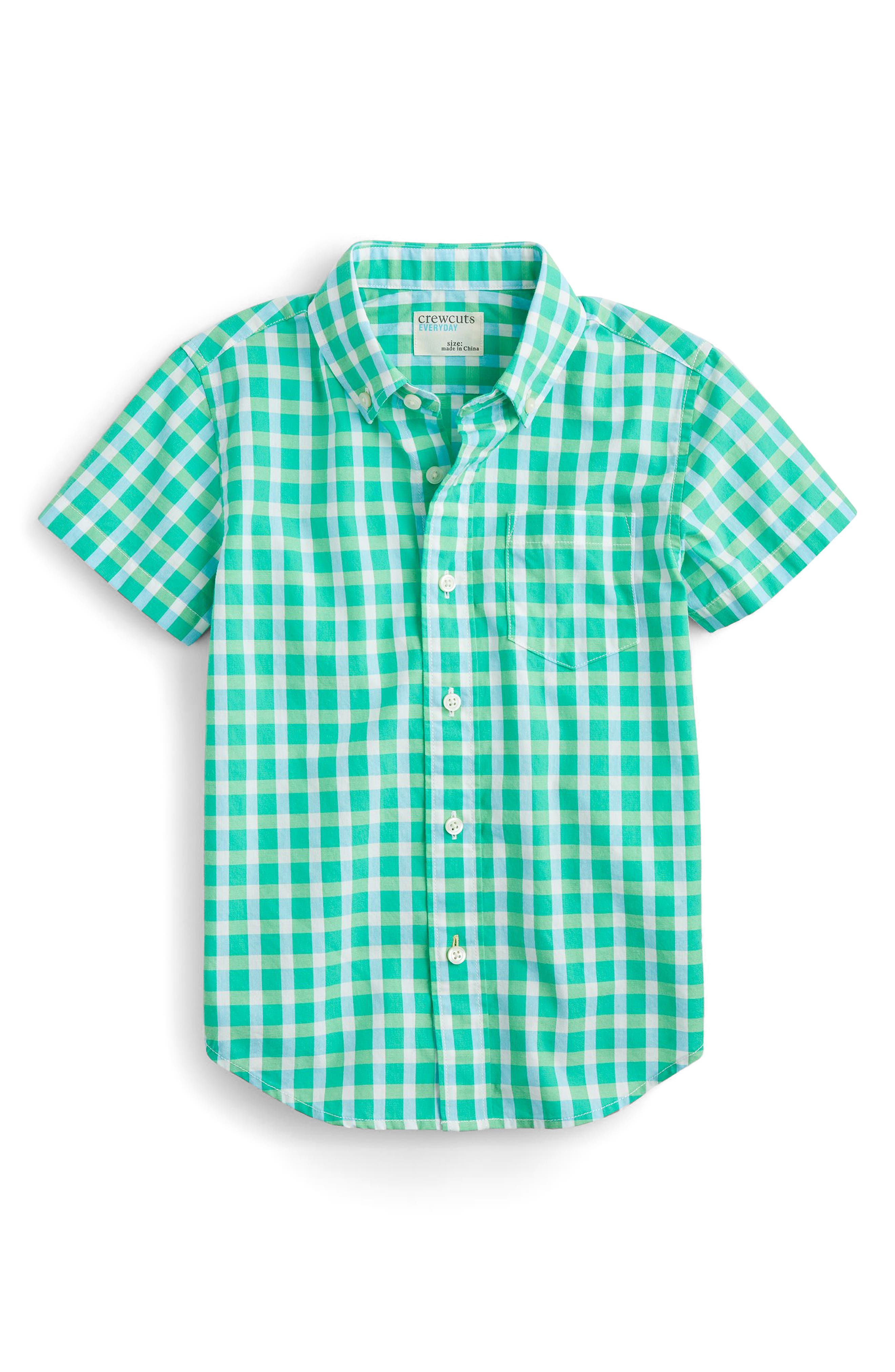 Secret Wash Gingham Check Shirt,                         Main,                         color, 300