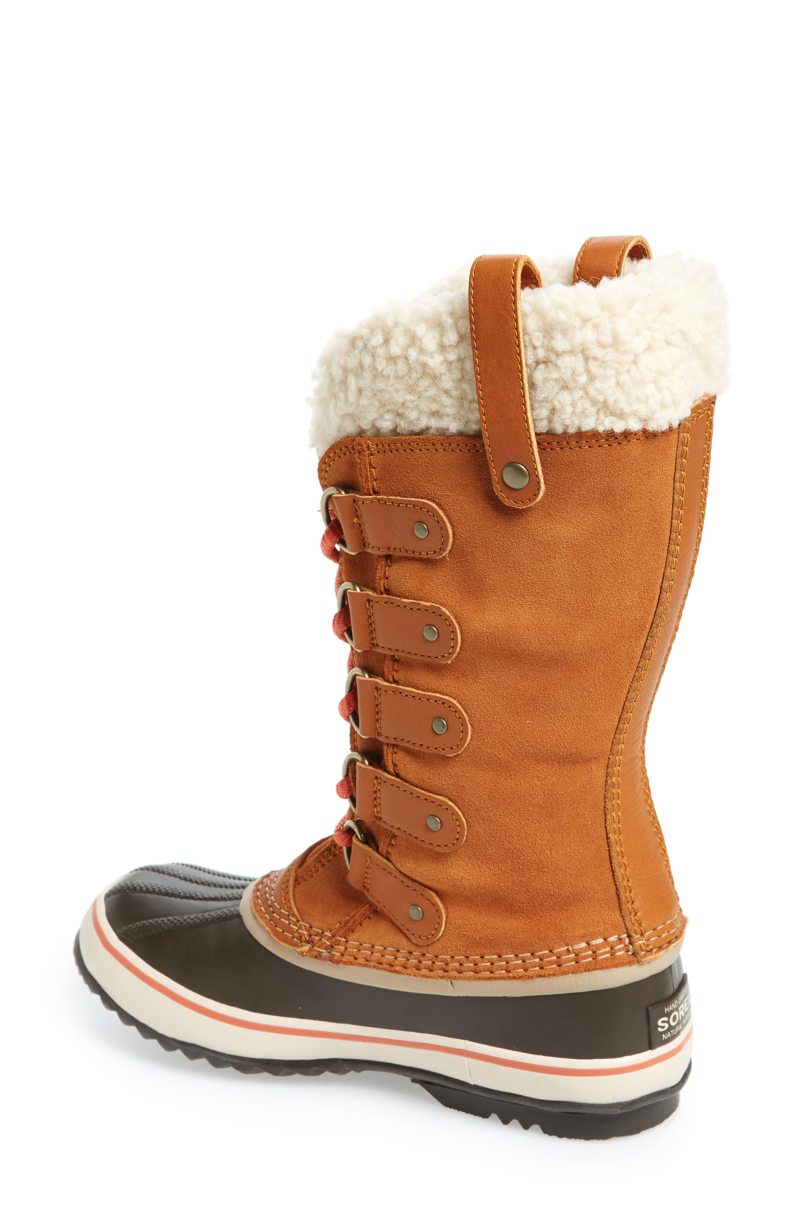Joan of Arctic Genuine Shearling Waterproof Boot,                             Alternate thumbnail 7, color,