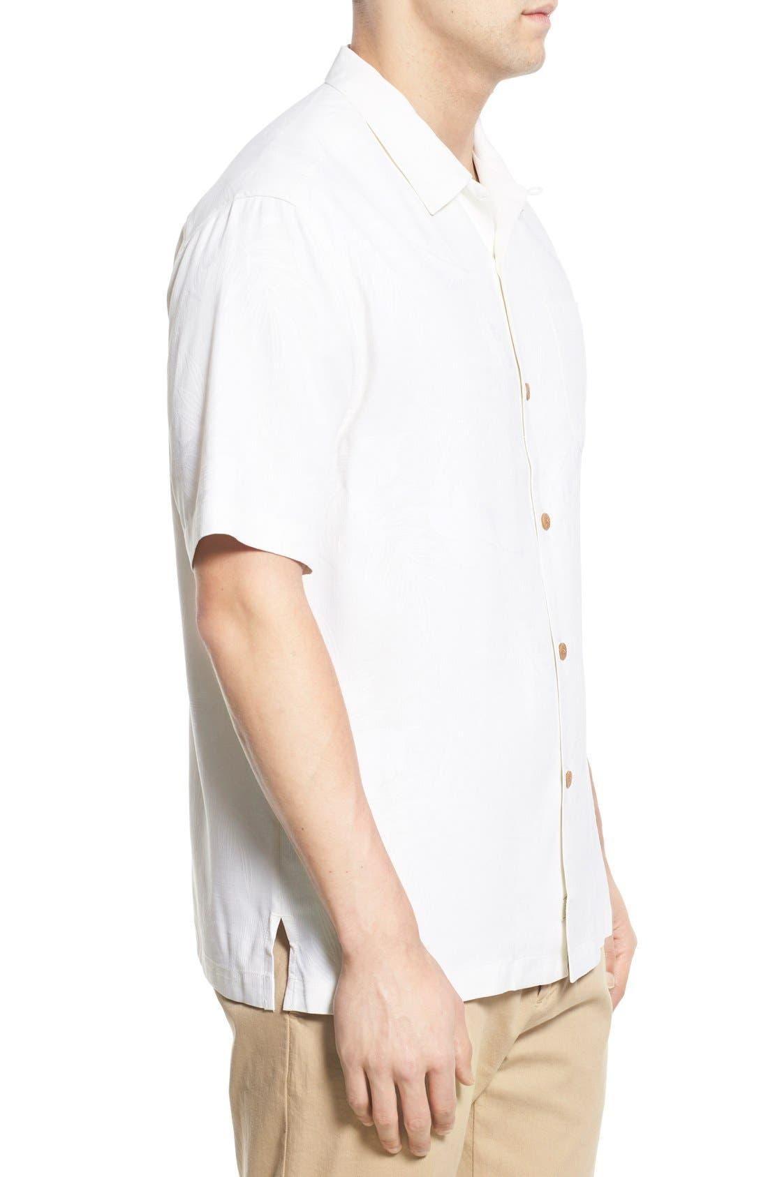Rio Fronds Short Sleeve Silk Sport Shirt,                             Alternate thumbnail 51, color,