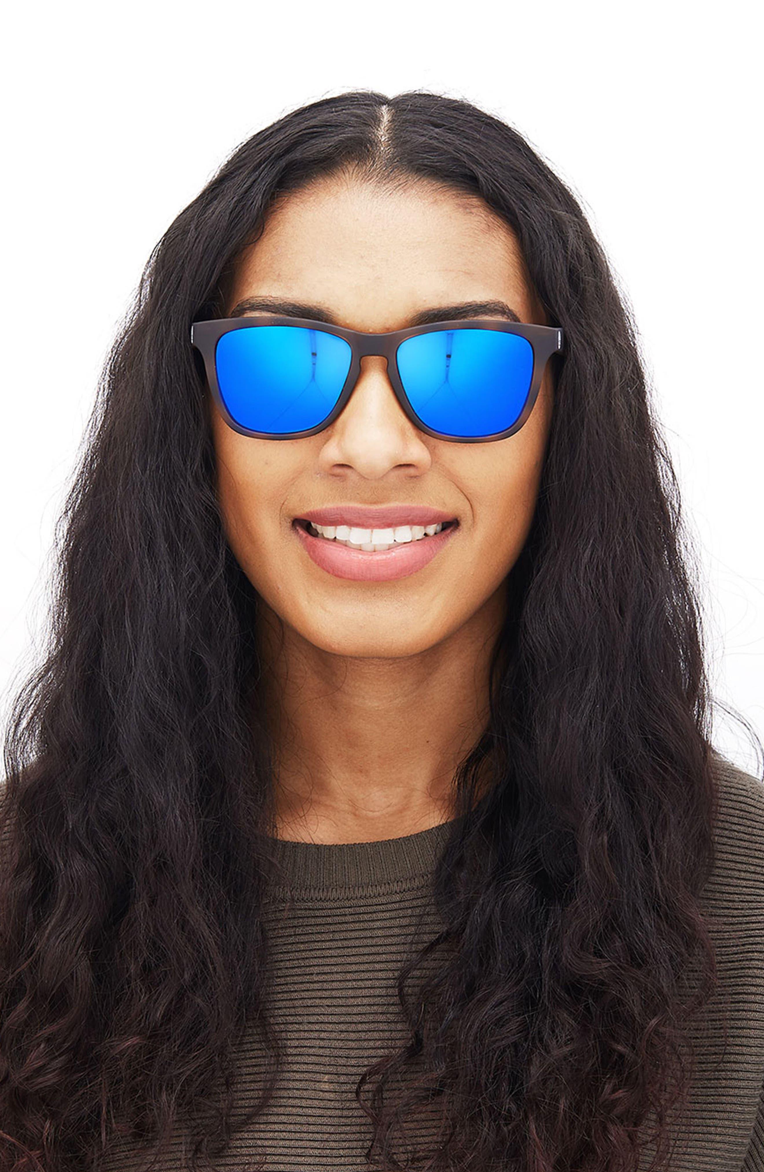 Madrona 53mm Polarized Sunglasses,                             Alternate thumbnail 5, color,                             TORTOISE/BLUE