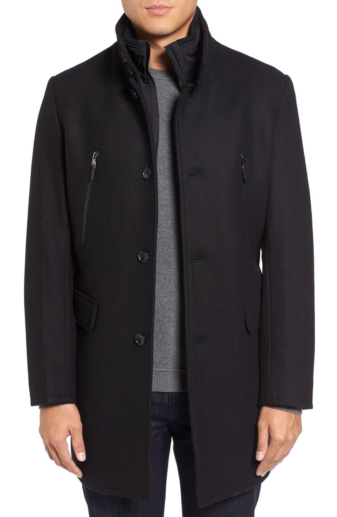 Wool Blend Topcoat,                         Main,                         color, 001