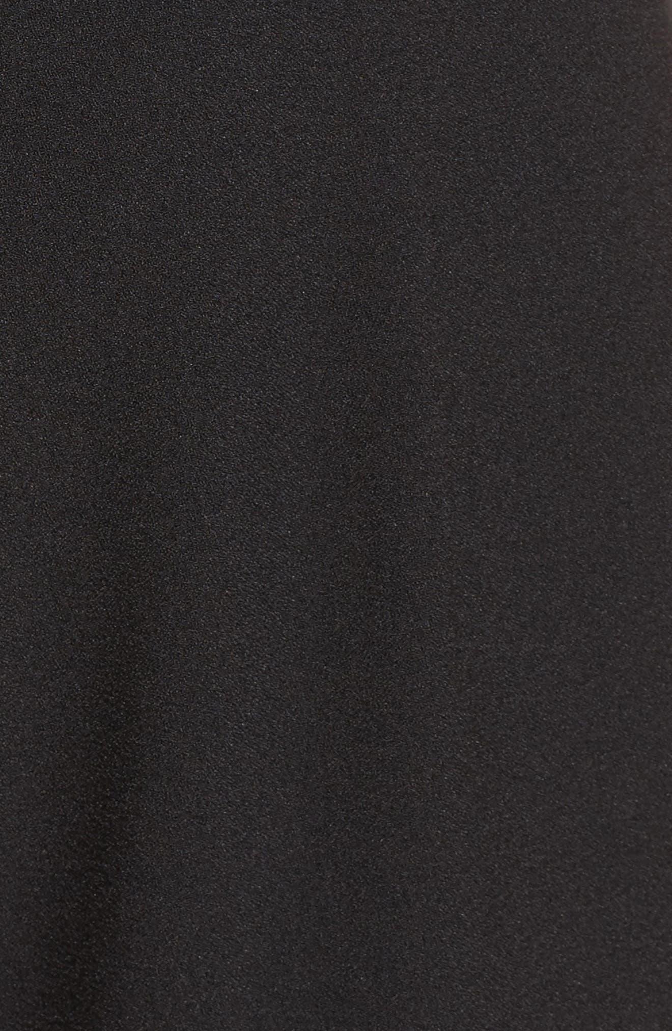 Chiffon & Crepe Jumpsuit,                             Alternate thumbnail 5, color,                             001