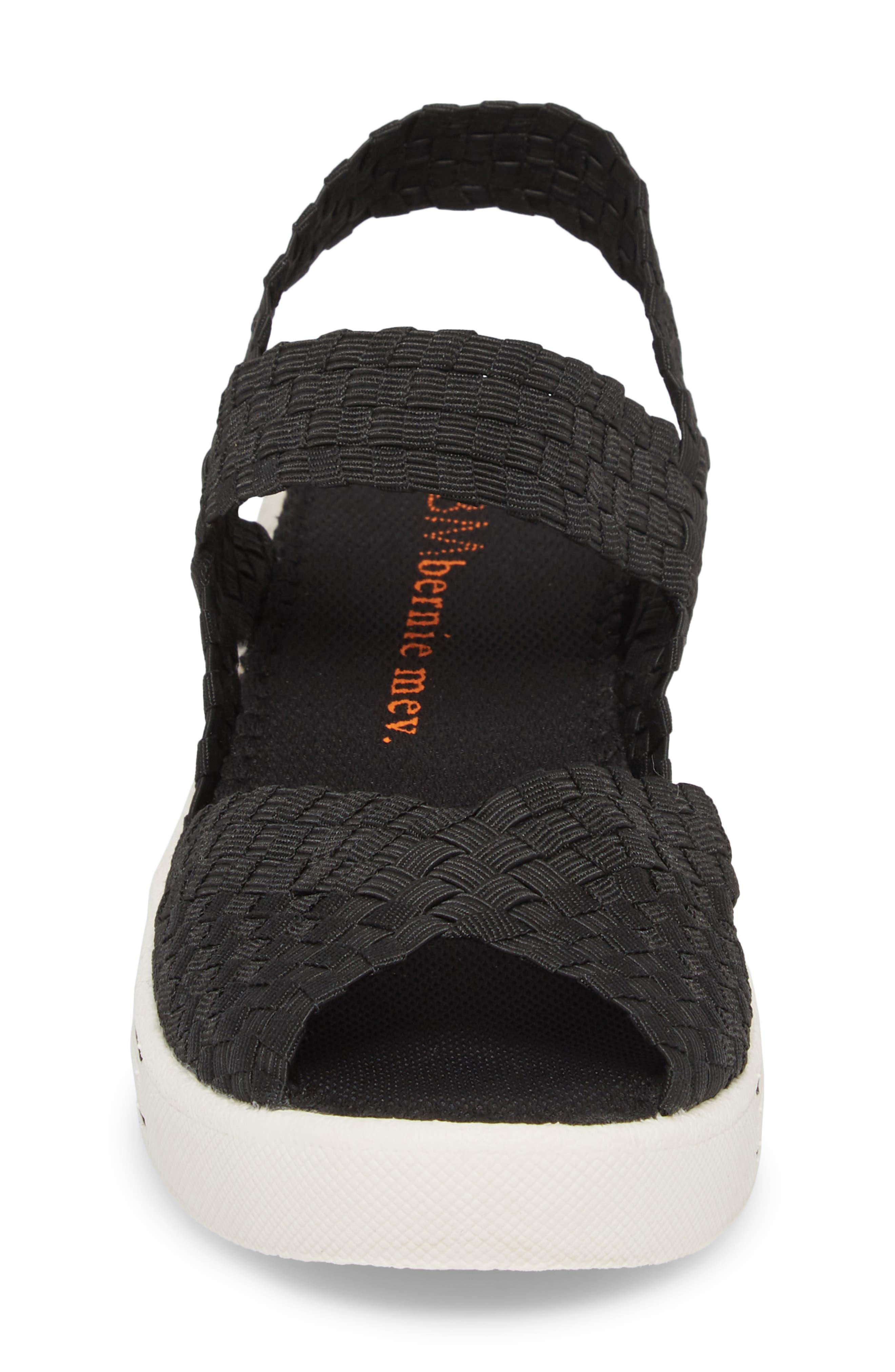 Lux Garden Sandal,                             Alternate thumbnail 4, color,                             BLACK FABRIC