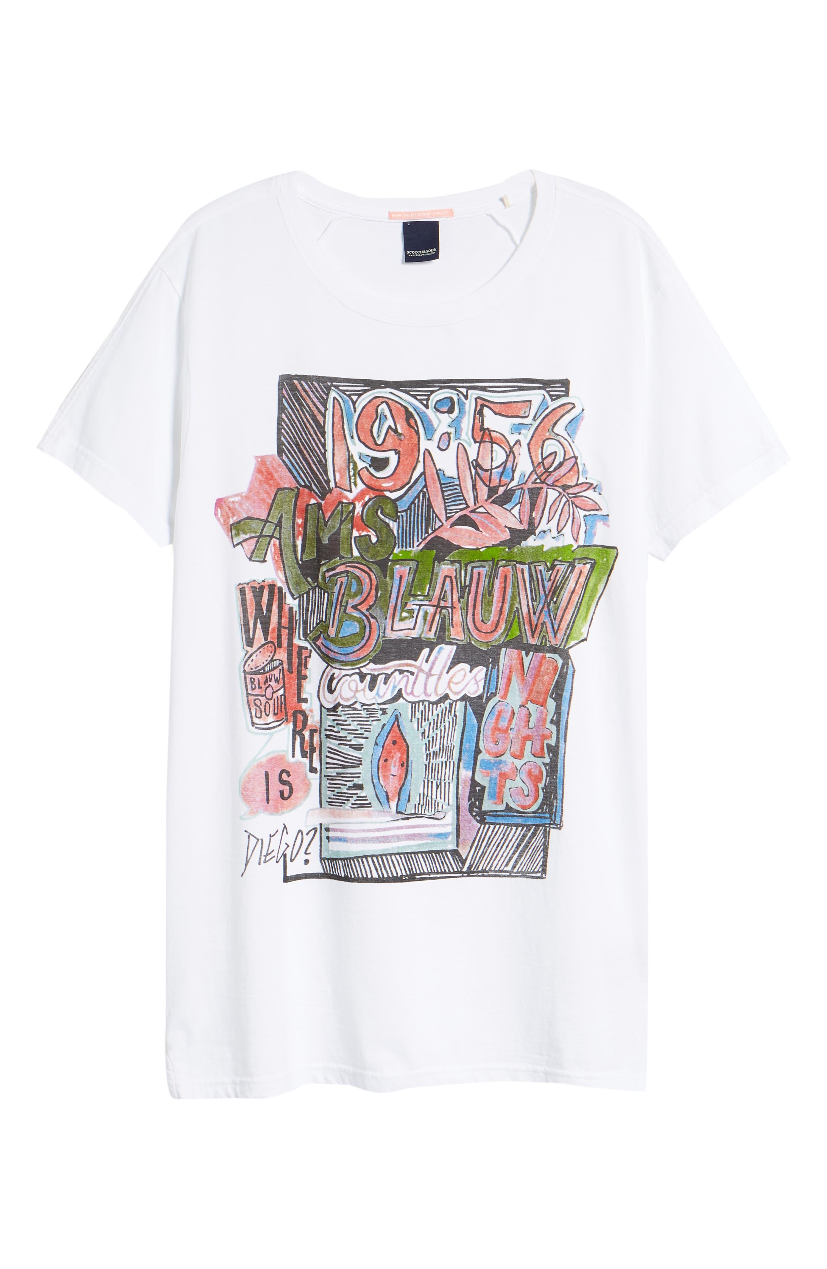 Indigo Lamplight T-Shirt,                             Alternate thumbnail 6, color,                             WHITE