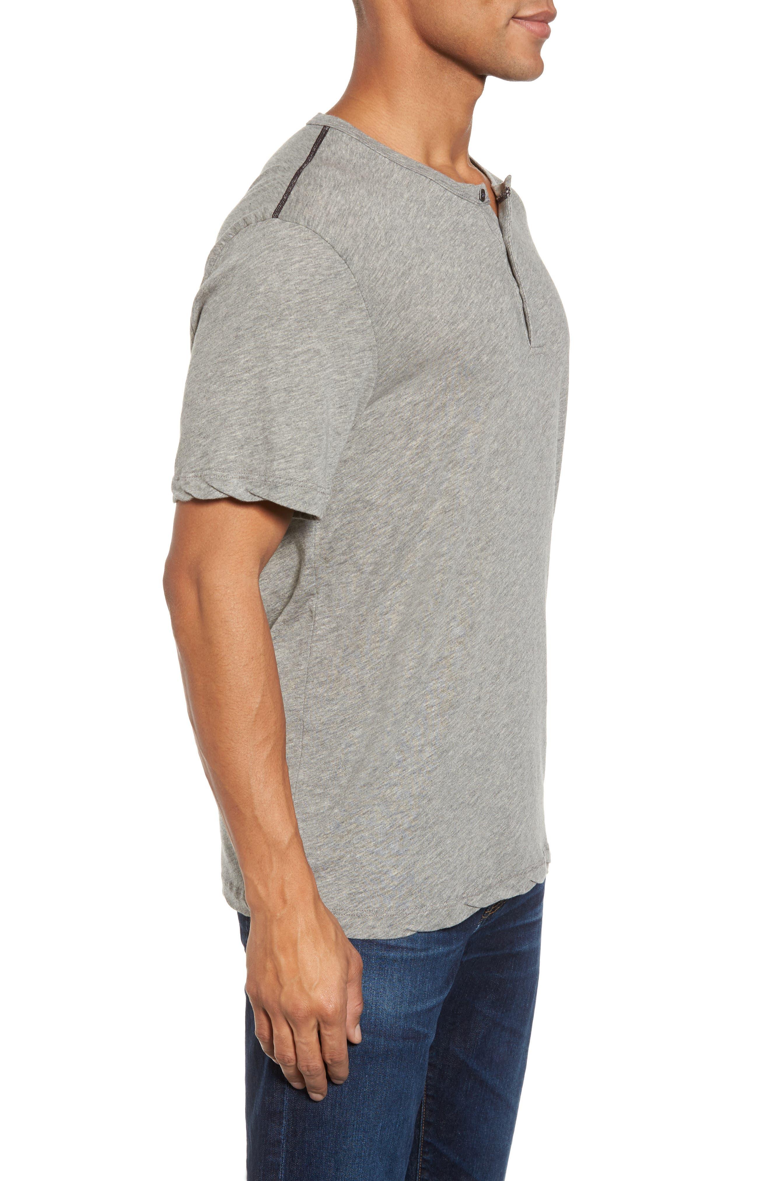 Contrast Stitch Henley T-Shirt,                             Alternate thumbnail 5, color,